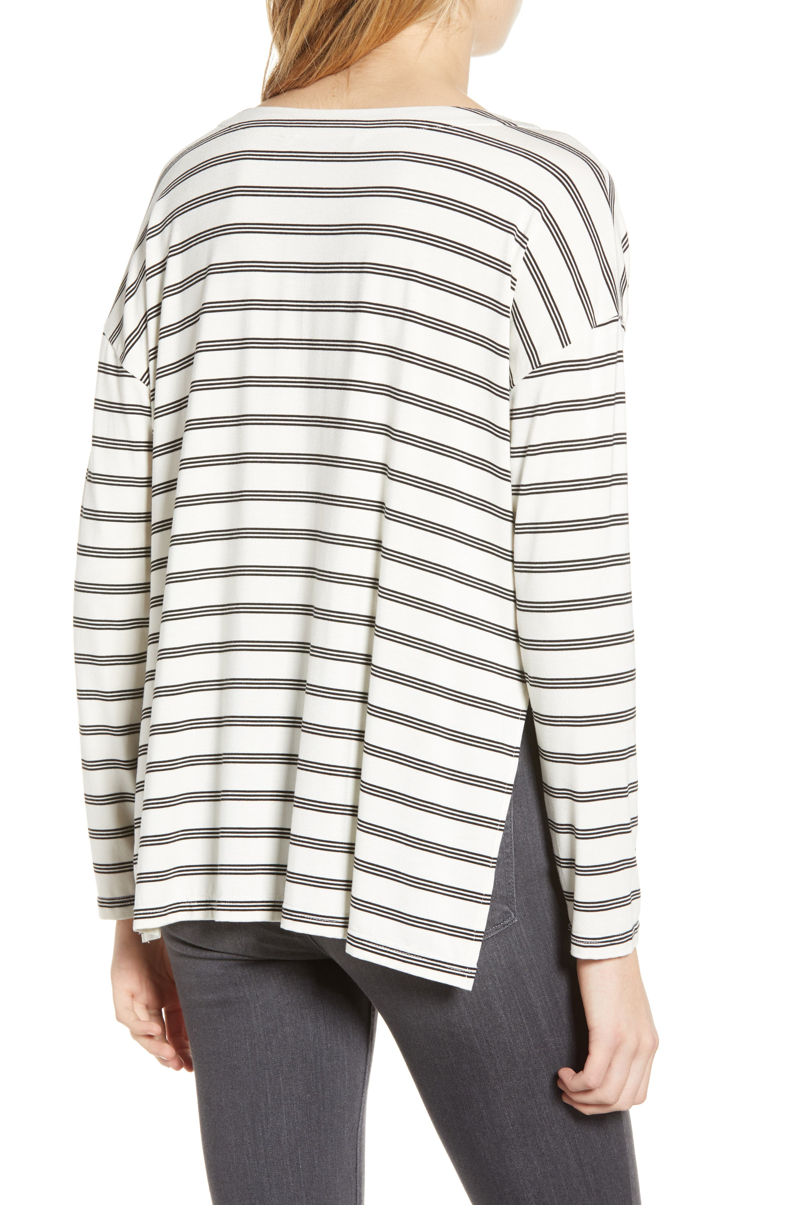 CUPCAKES AND CASHMERE,                             Roxanna Stripe Knit Top,                             Alternate thumbnail 2, color,                             IVORY