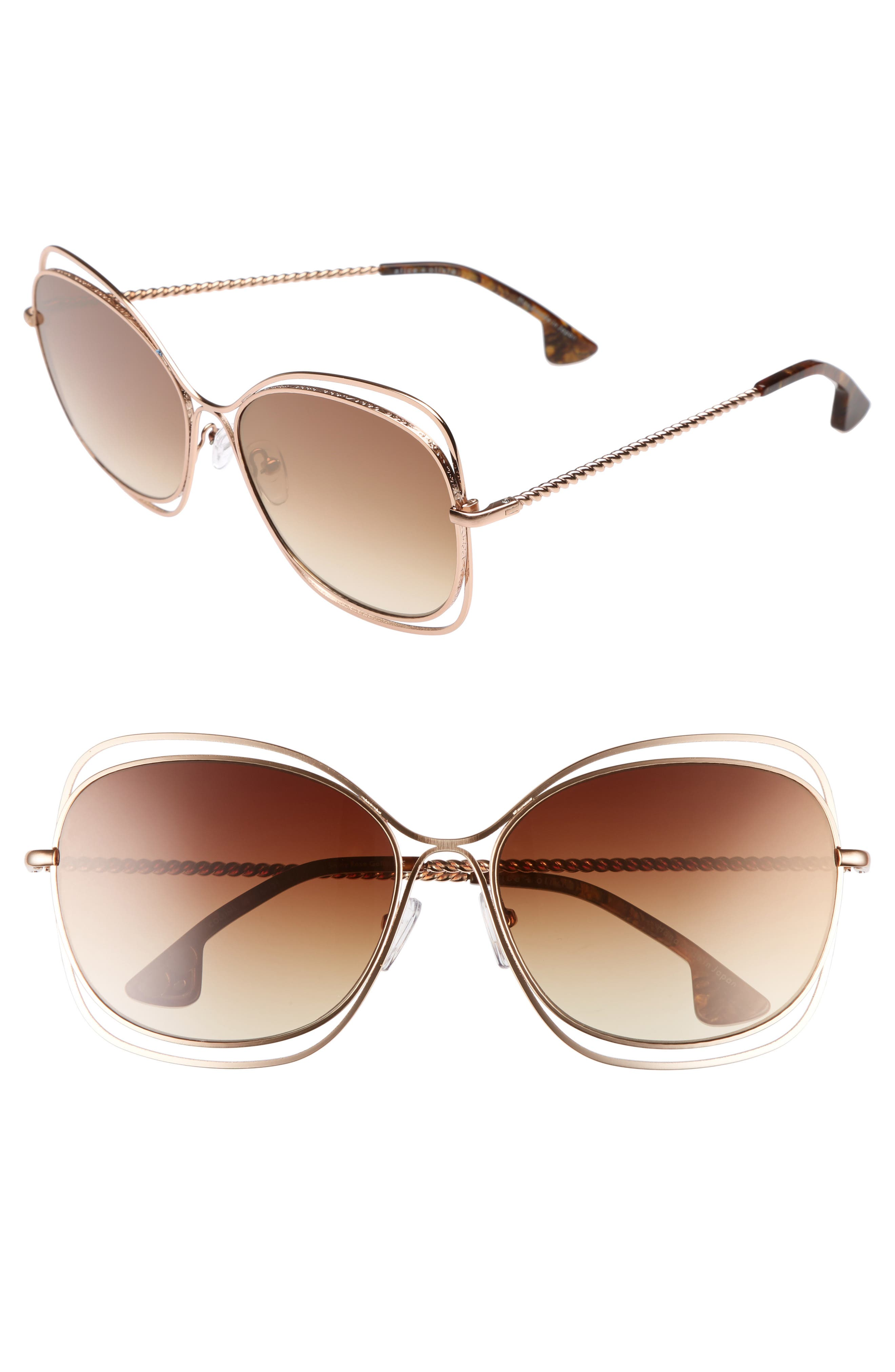 Collins 60mm Butterfly Sunglasses,                             Main thumbnail 1, color,                             220