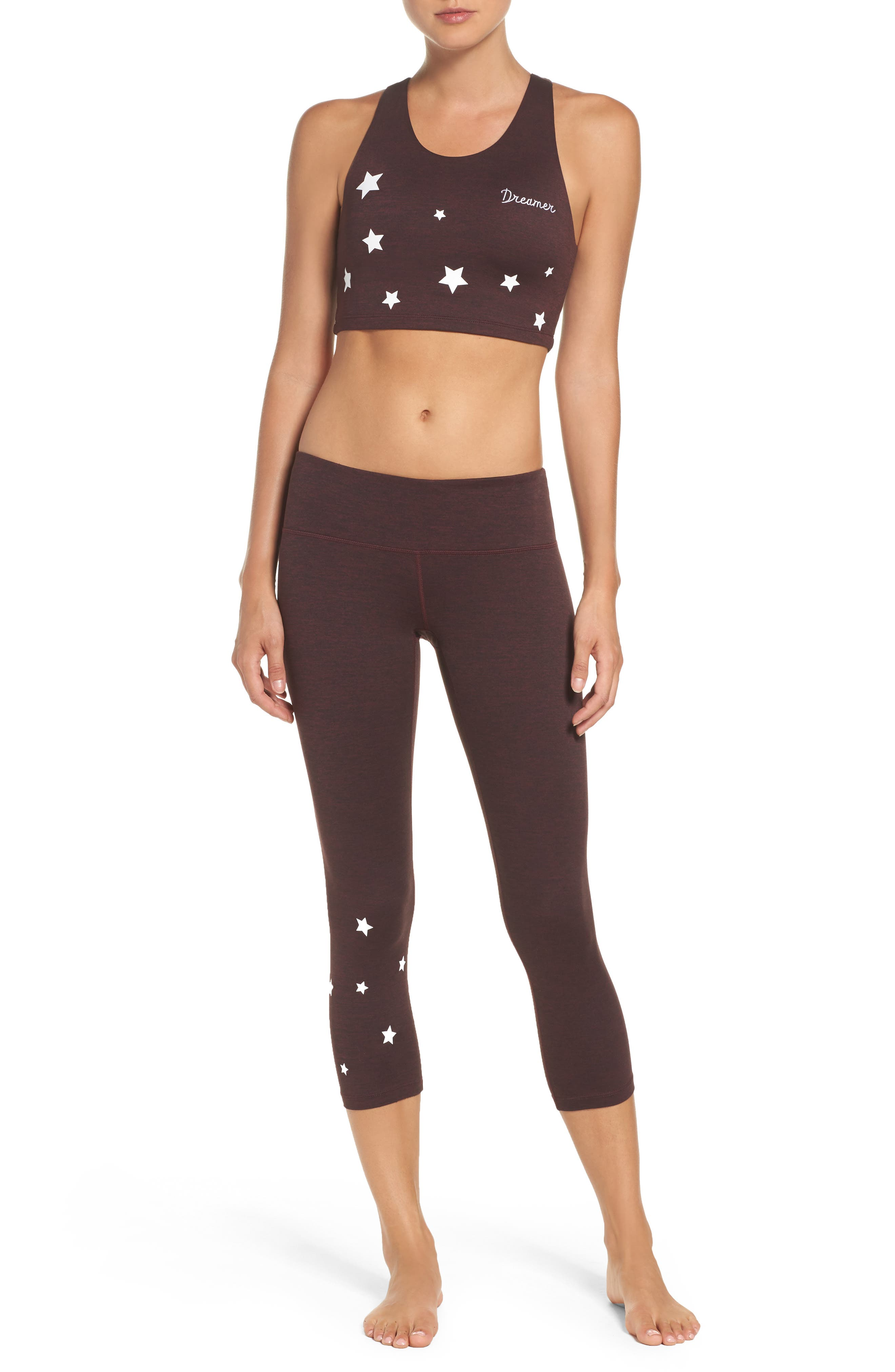 Stars Power Crop Leggings,                             Alternate thumbnail 8, color,                             602
