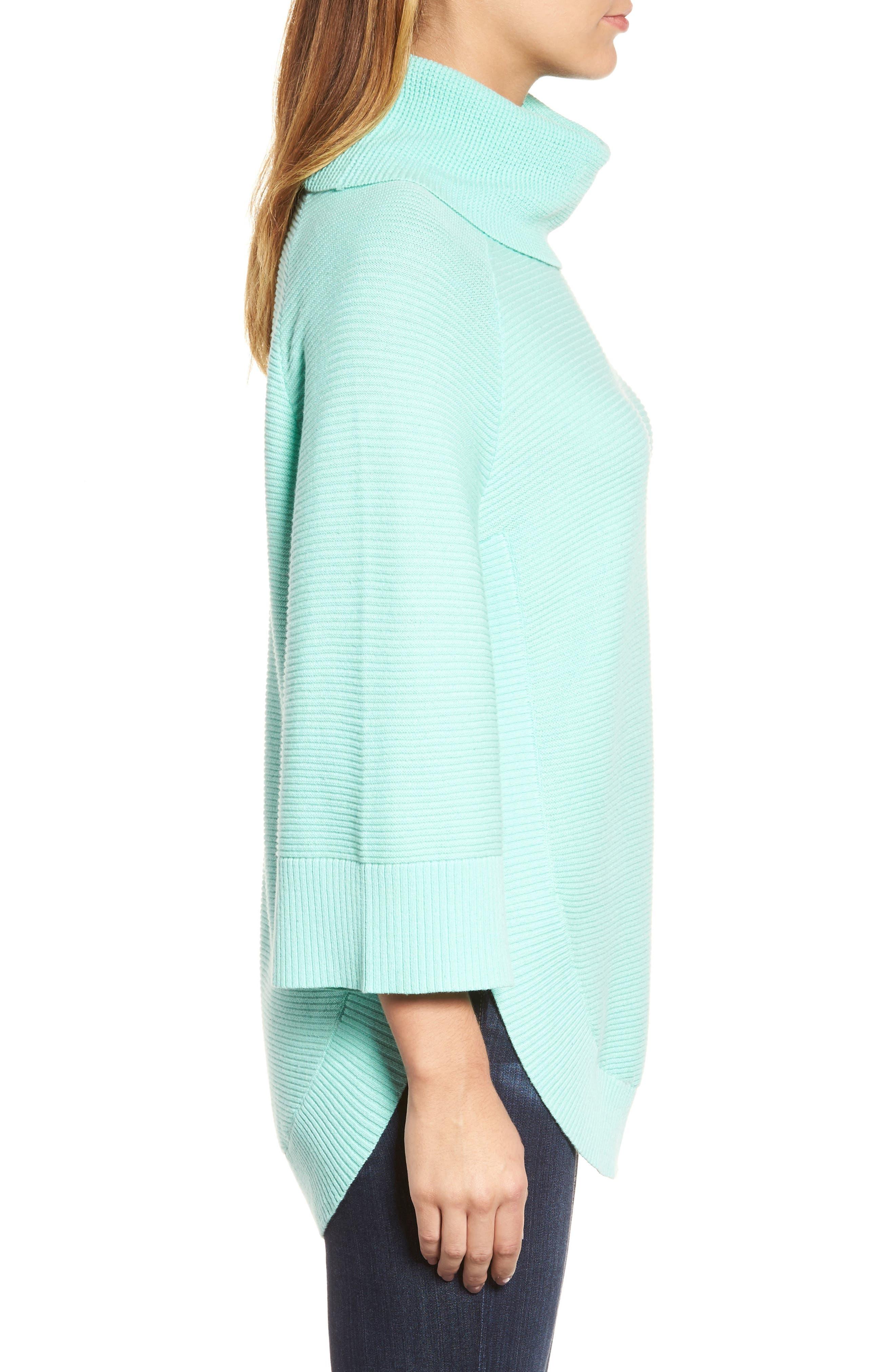Cowl Neck Shirttail Hem Sweater,                             Alternate thumbnail 3, color,                             336