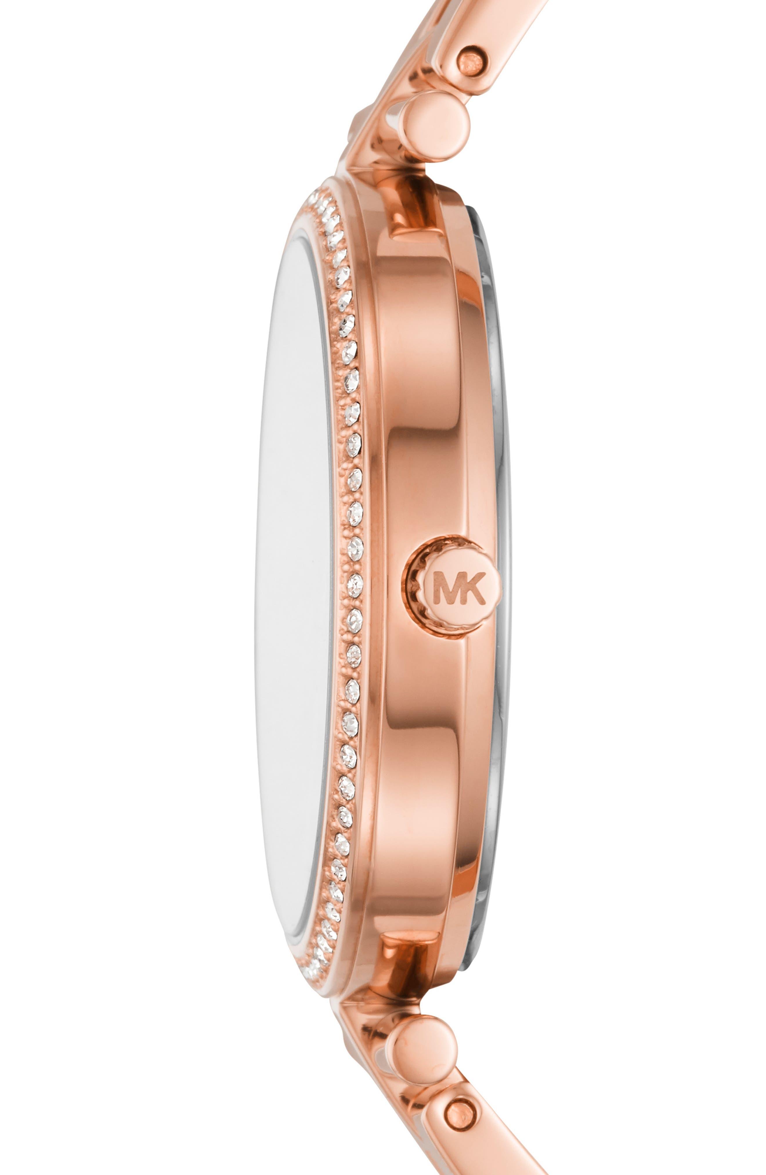 MICHAEL KORS,                             Maci Bracelet Watch, 34mm,                             Alternate thumbnail 2, color,                             ROSE GOLD