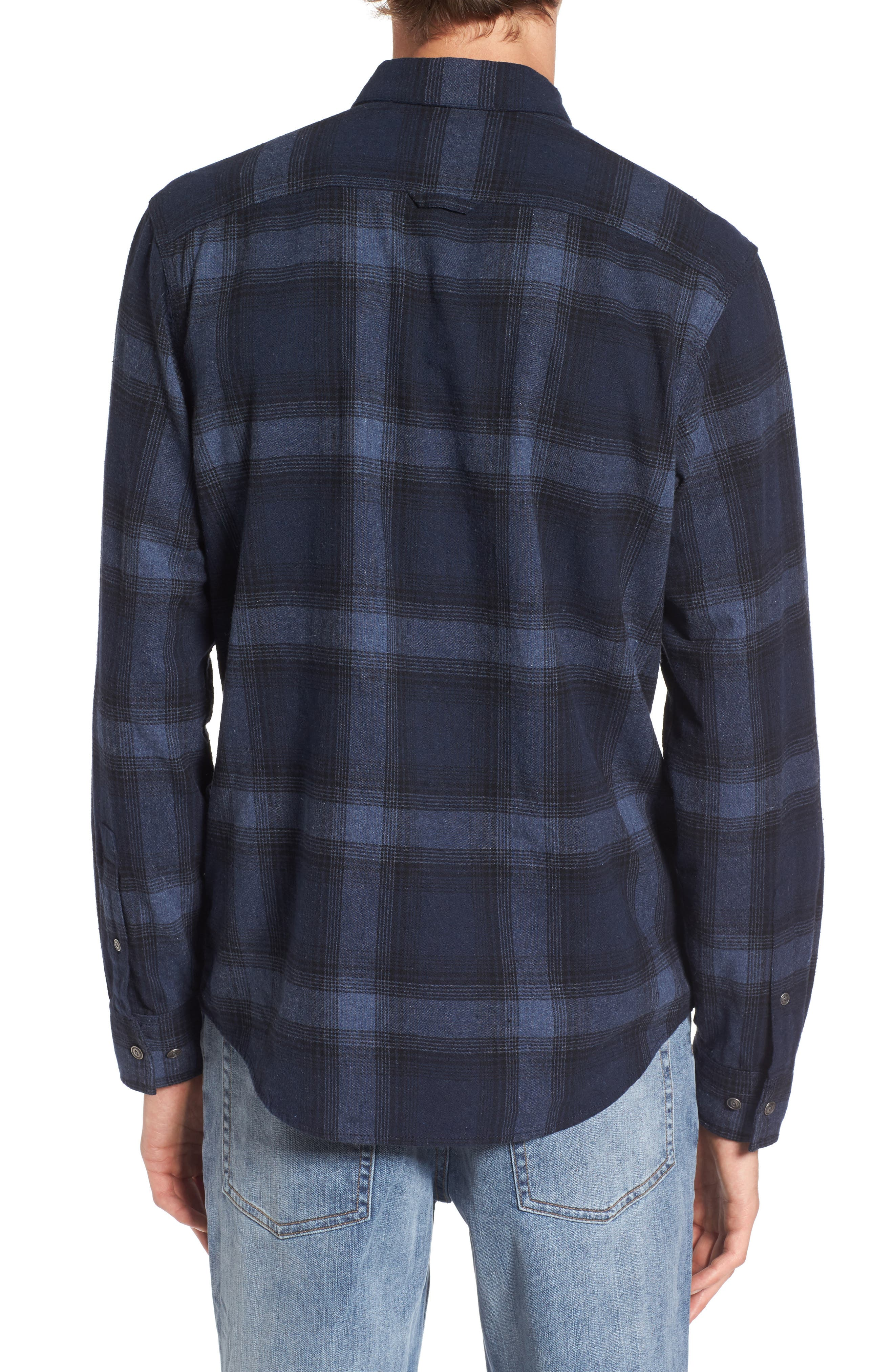 Owen Plaid Flannel Sport Shirt,                             Alternate thumbnail 2, color,                             410