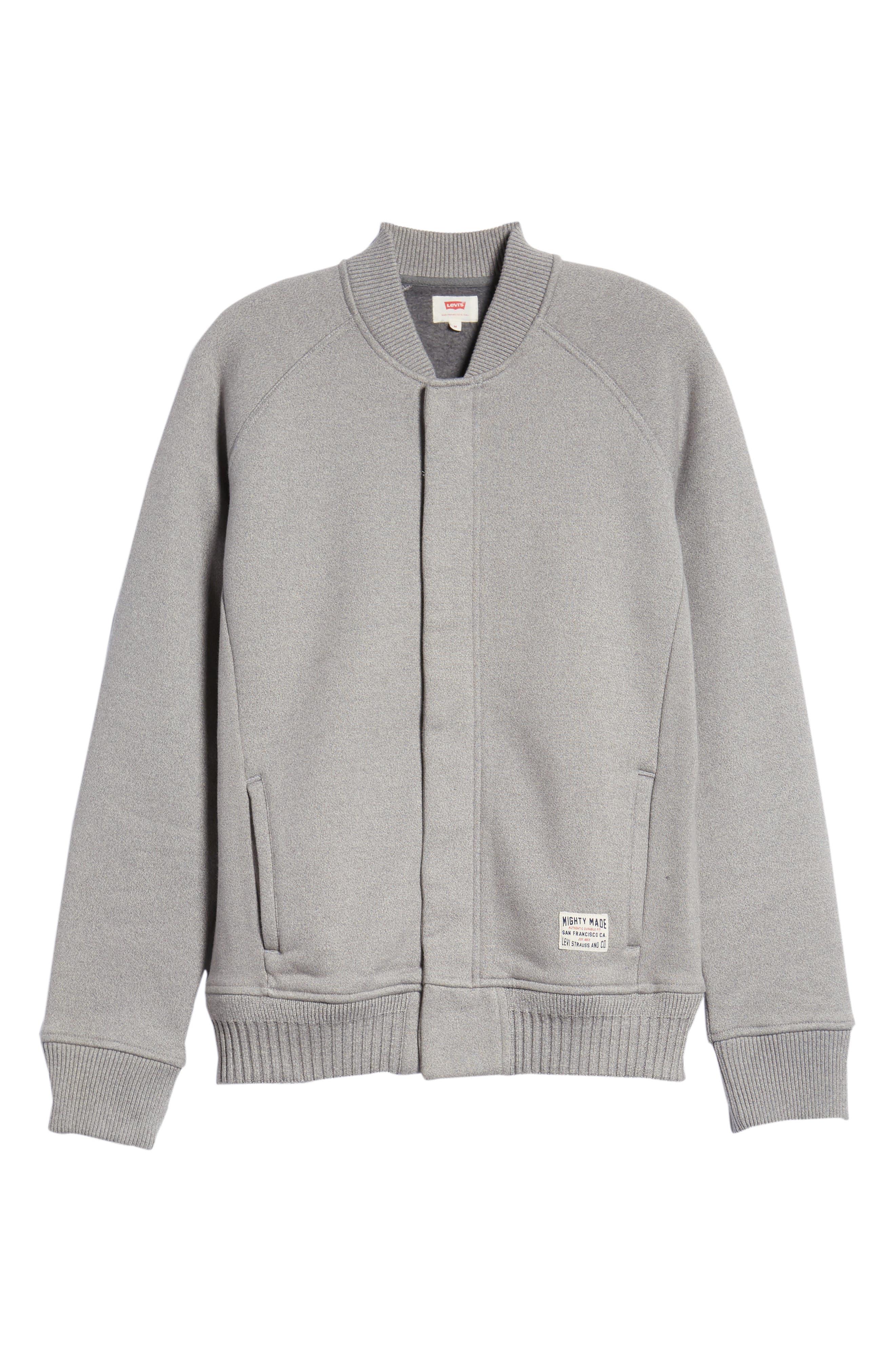 Levi's Knit Bomber Jacket,                             Alternate thumbnail 6, color,                             020