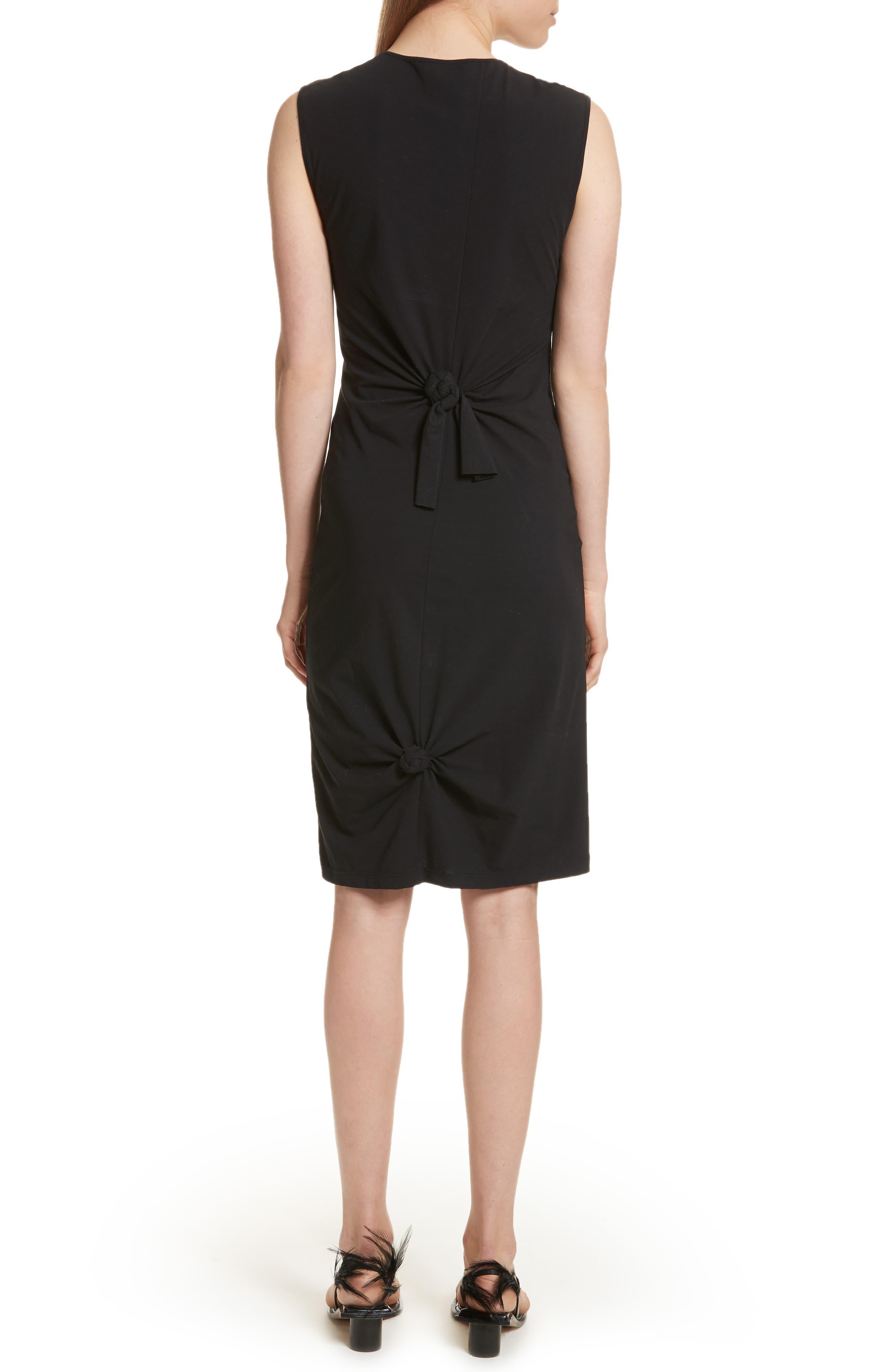 Knot Detail Dress,                             Alternate thumbnail 2, color,                             001