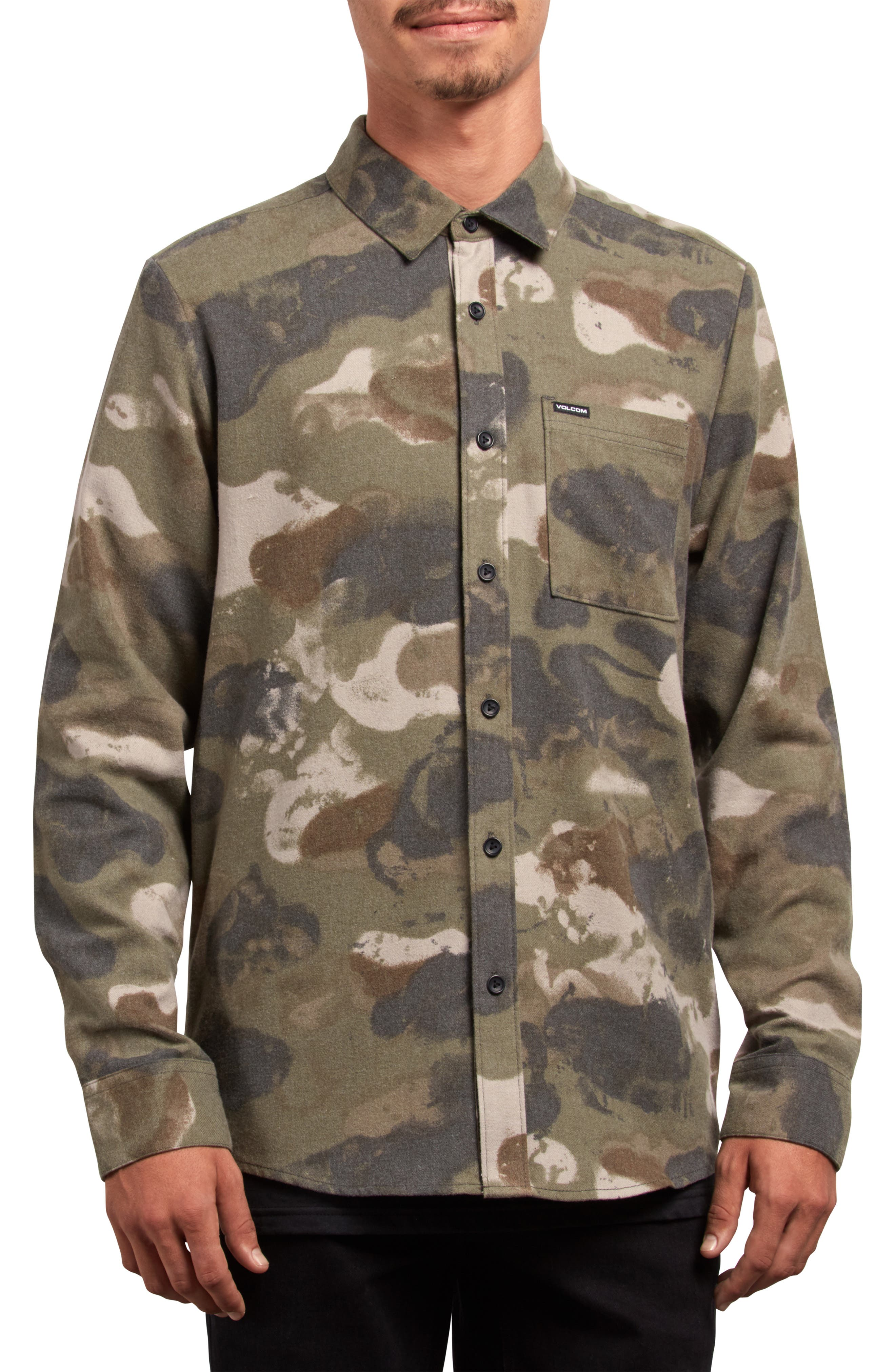 Dragstone Woven Shirt,                             Main thumbnail 1, color,                             CAMOUFLAGE
