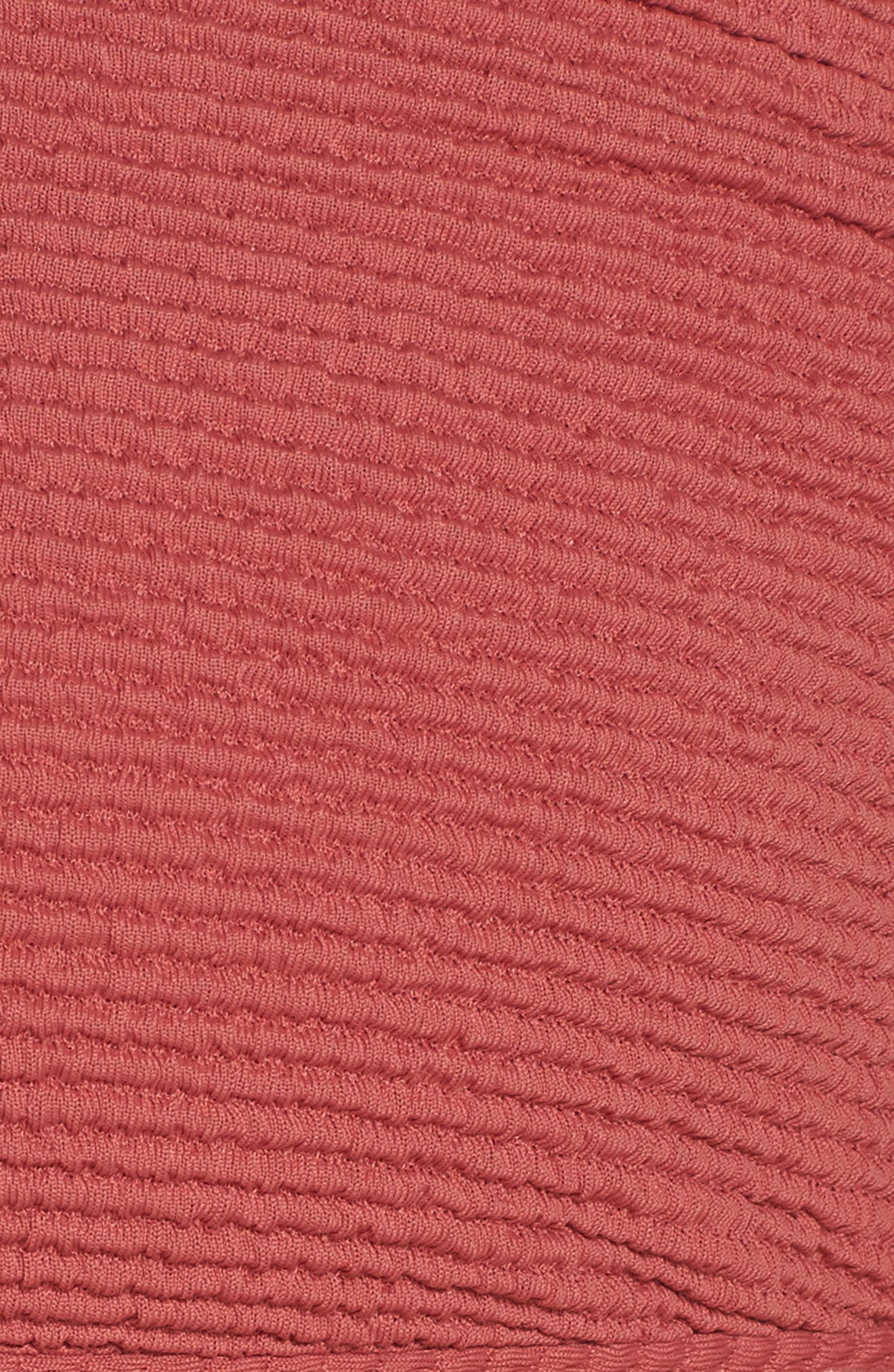 Malibu Bikini Top,                             Alternate thumbnail 5, color,                             RED MINERAL