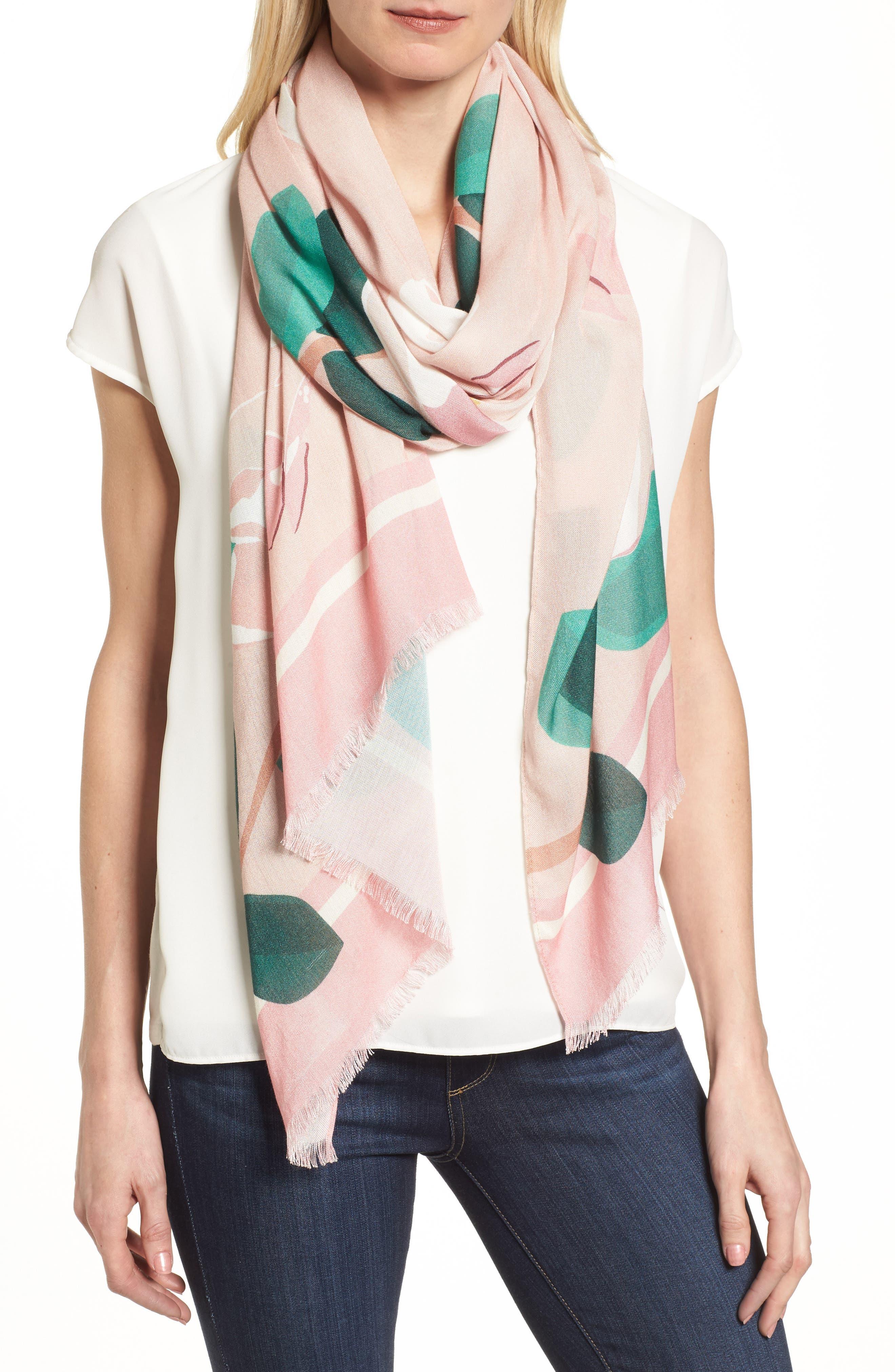 magnolia scarf,                             Main thumbnail 1, color,                             698