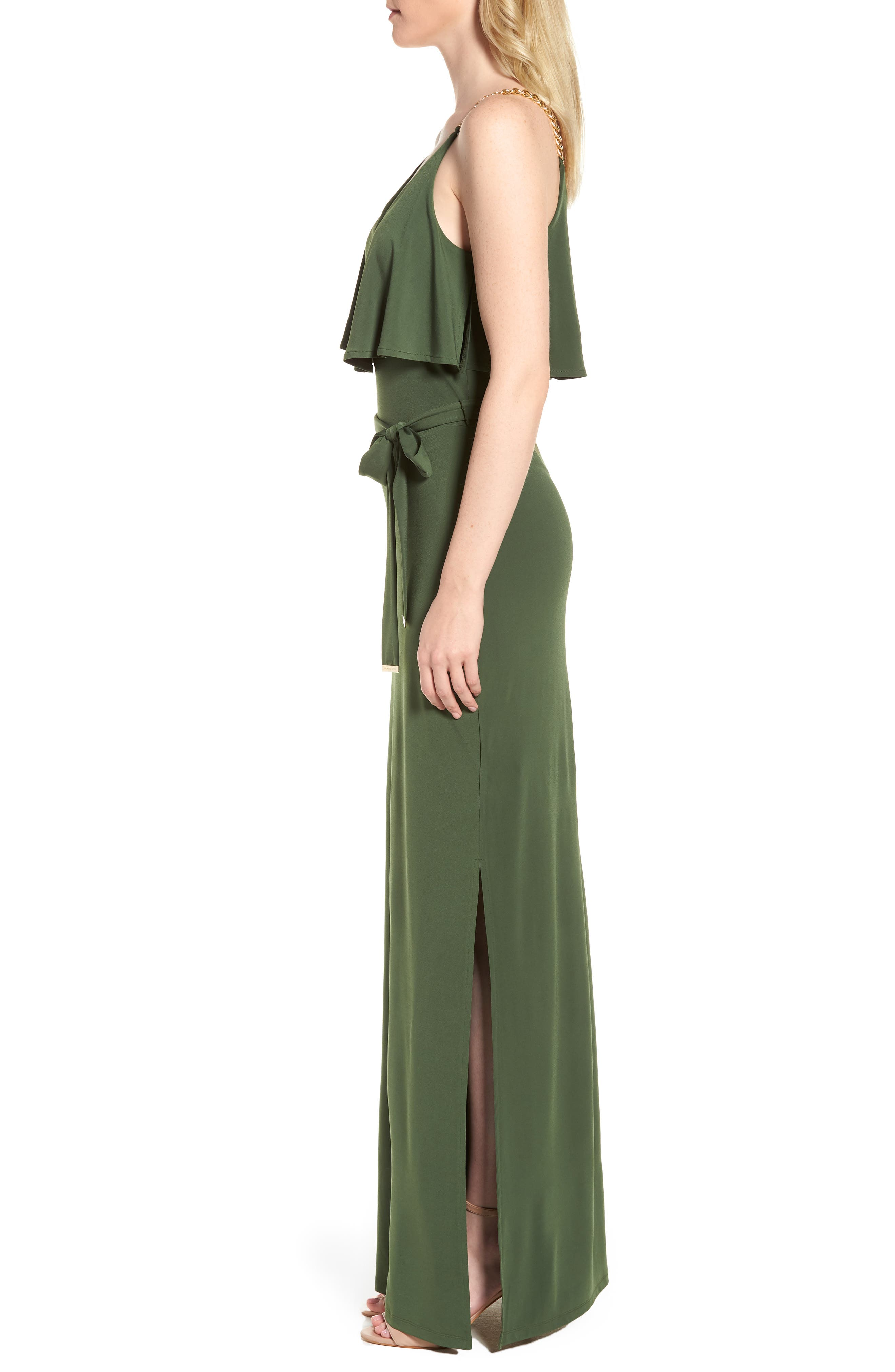 Chain Strap Popover Maxi Dress,                             Alternate thumbnail 3, color,