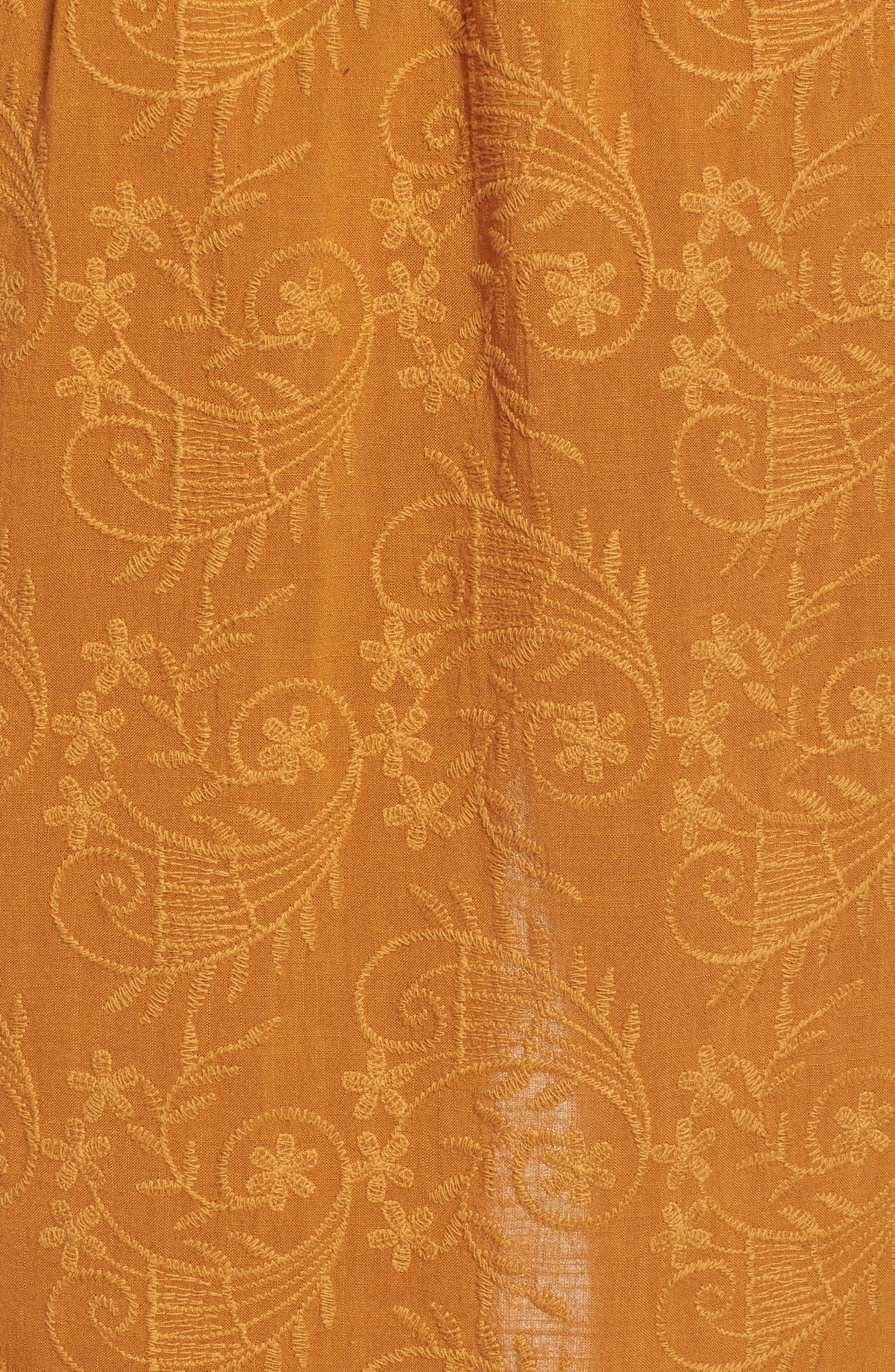 Embroidered Paperbag Waist Skirt,                             Alternate thumbnail 5, color,                             700