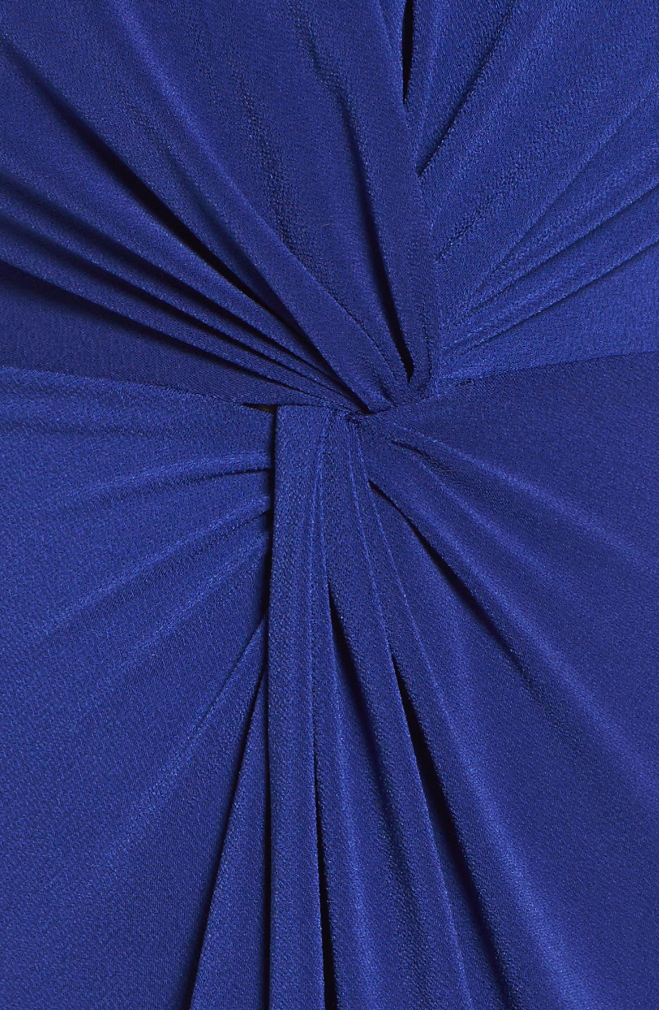 Twist Front Jersey Dress,                             Alternate thumbnail 5, color,                             415
