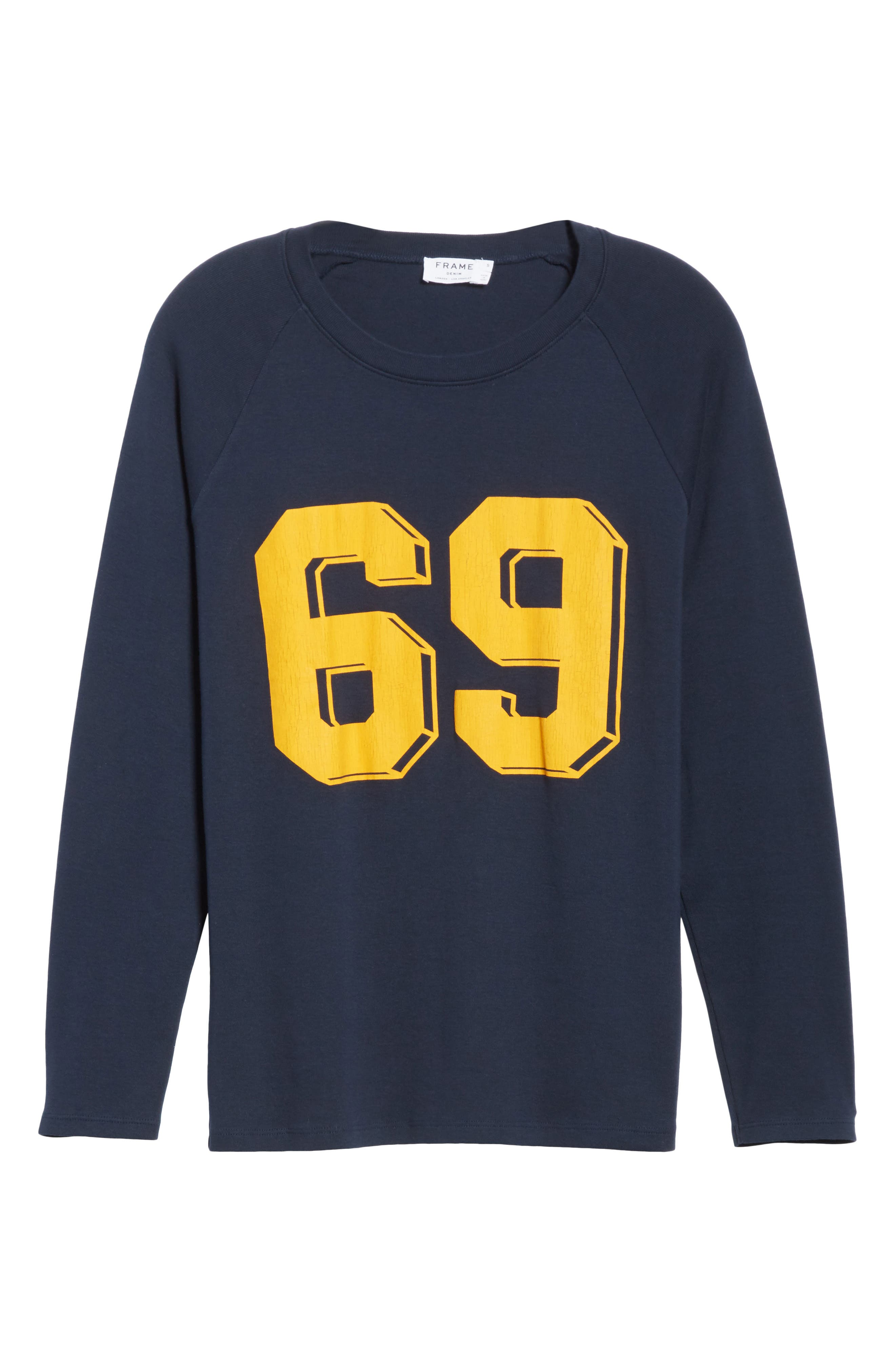 Collegiate Raglan Sweatshirt,                             Alternate thumbnail 6, color,