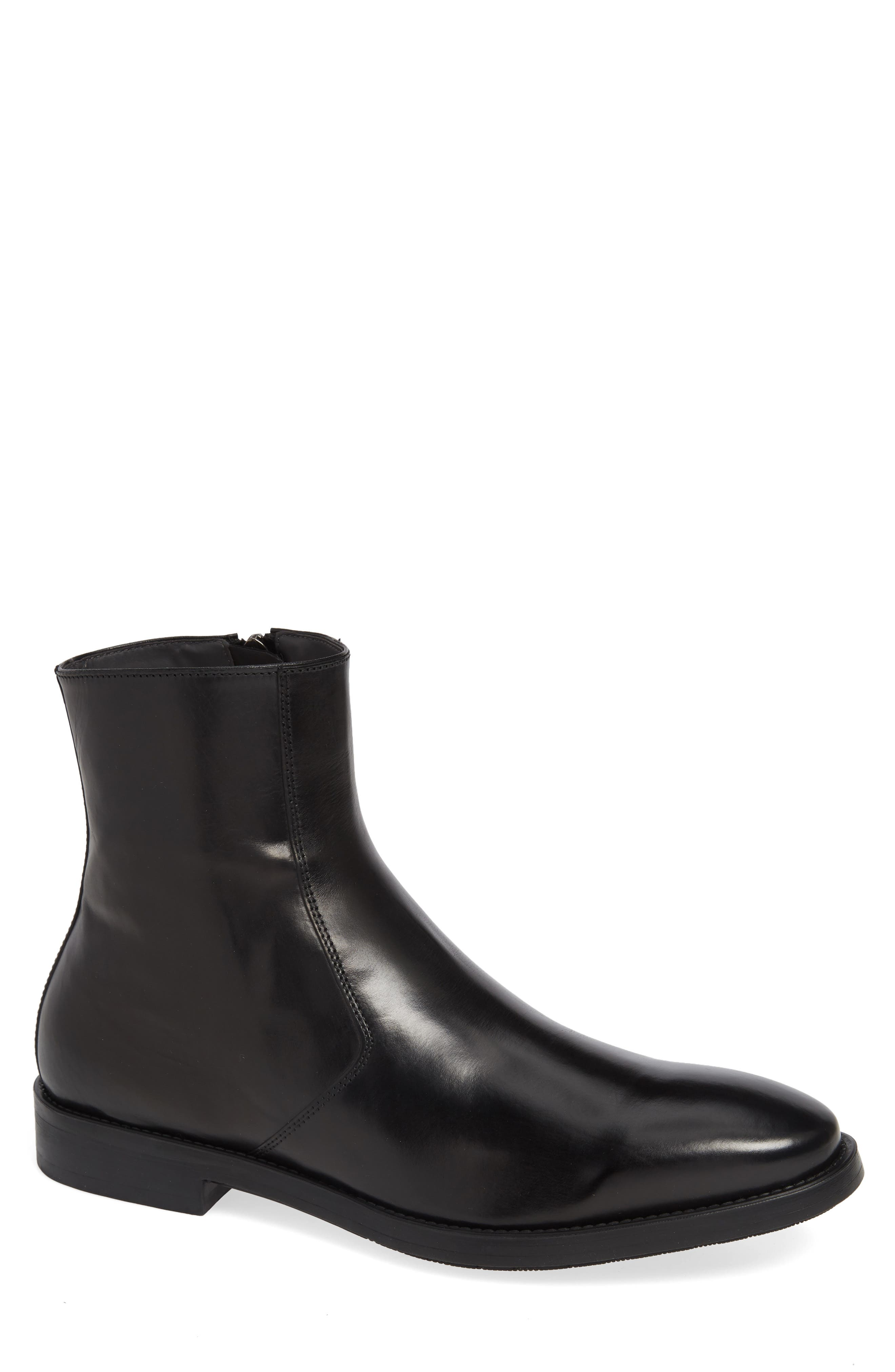 TO BOOT NEW YORK Men'S Rosemont Leather Ankle Boots in Black Leather