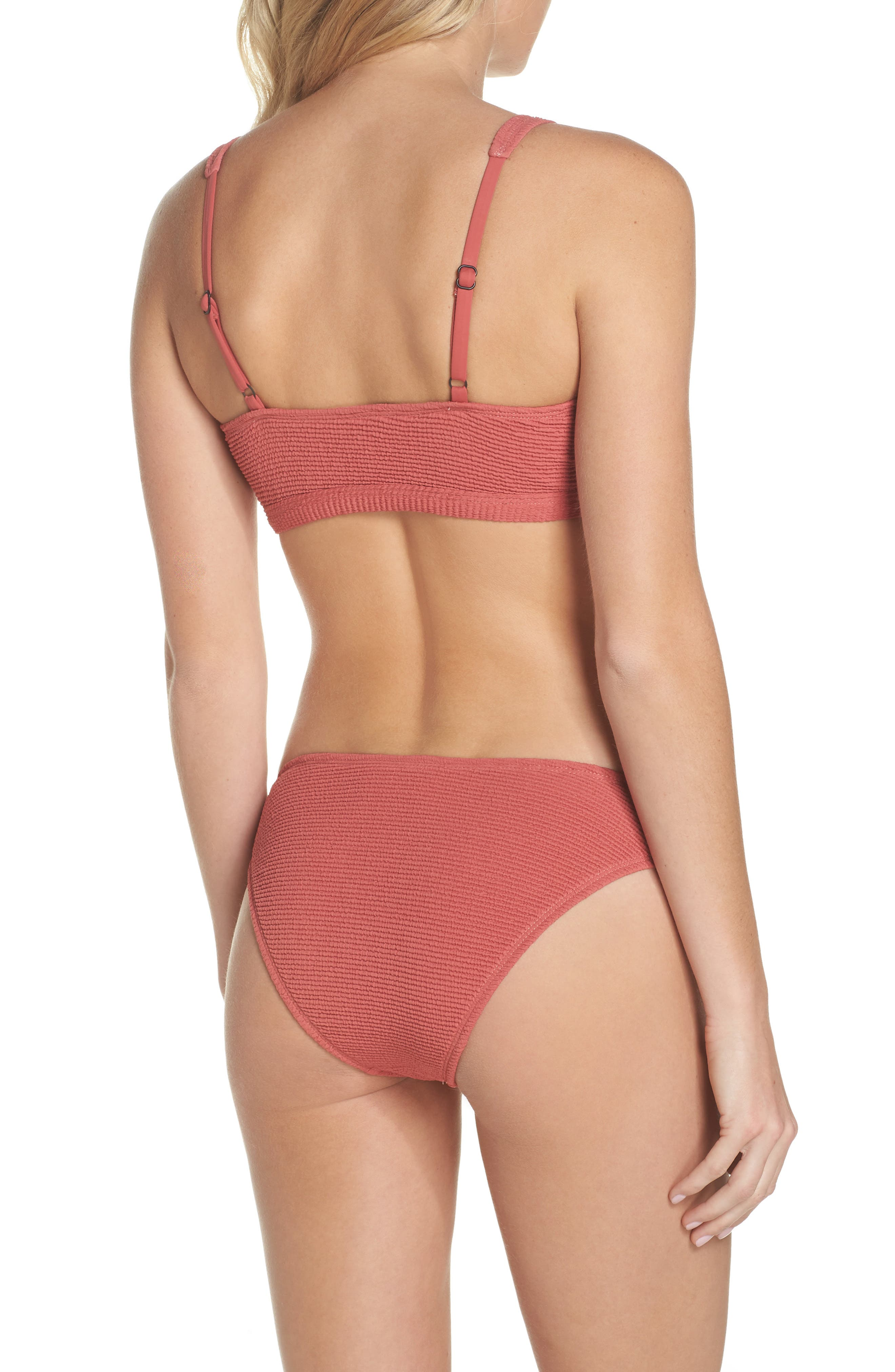 Malibu Bikini Top,                             Alternate thumbnail 8, color,                             RED MINERAL
