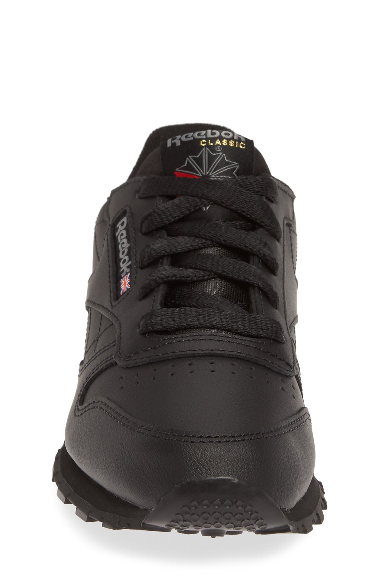 Classic Leather Sneaker,                             Alternate thumbnail 4, color,                             001
