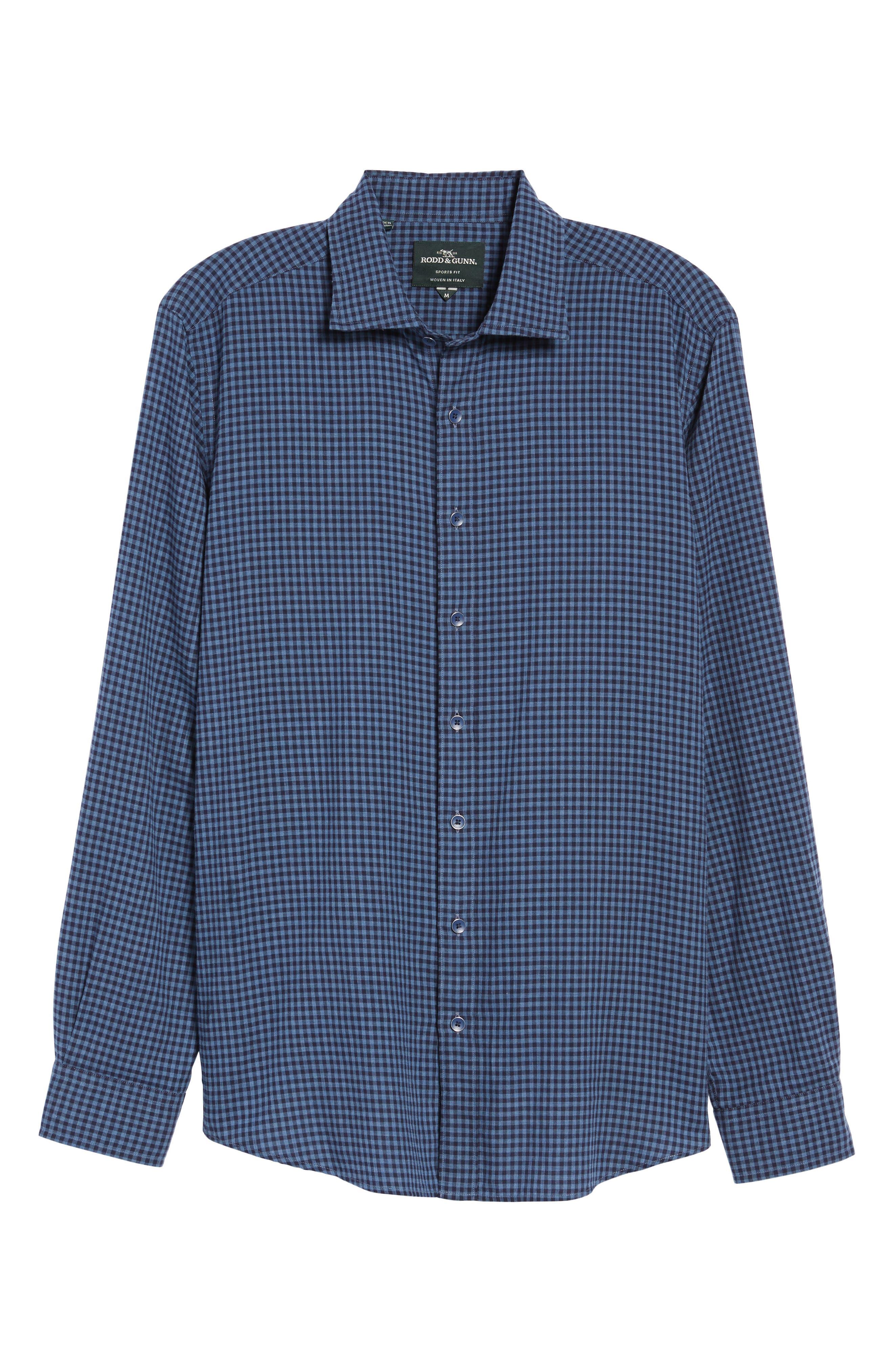 Kennington Regular Fit Gingham Sport Shirt,                             Alternate thumbnail 6, color,                             401