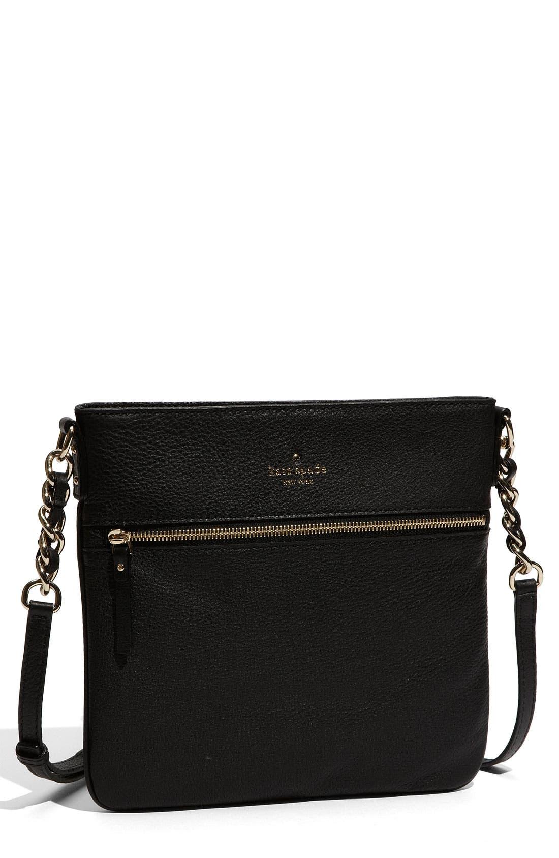 'cobble hill - ellen' leather crossbody bag,                             Main thumbnail 1, color,                             001