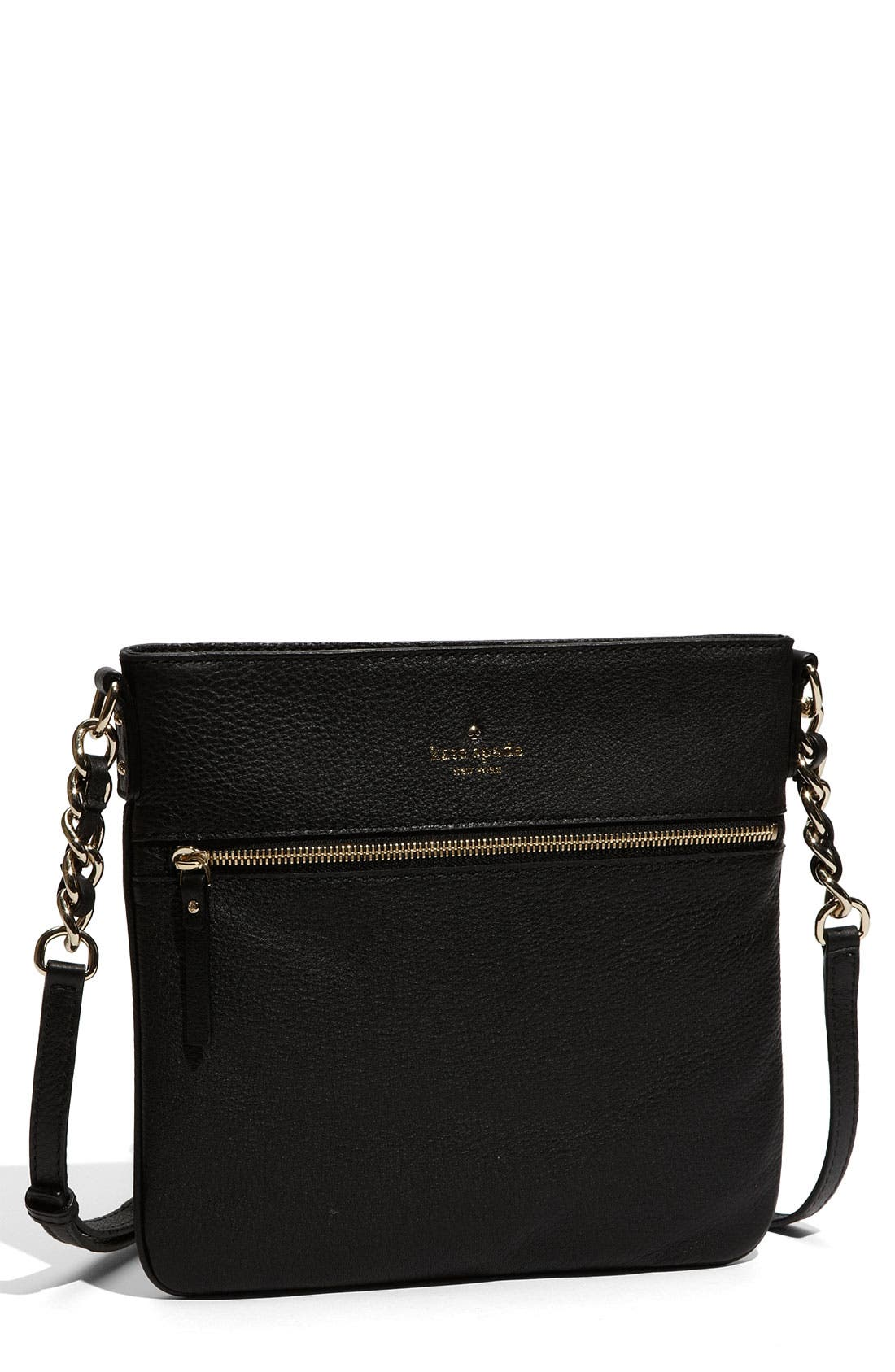'cobble hill - ellen' leather crossbody bag,                         Main,                         color, 001