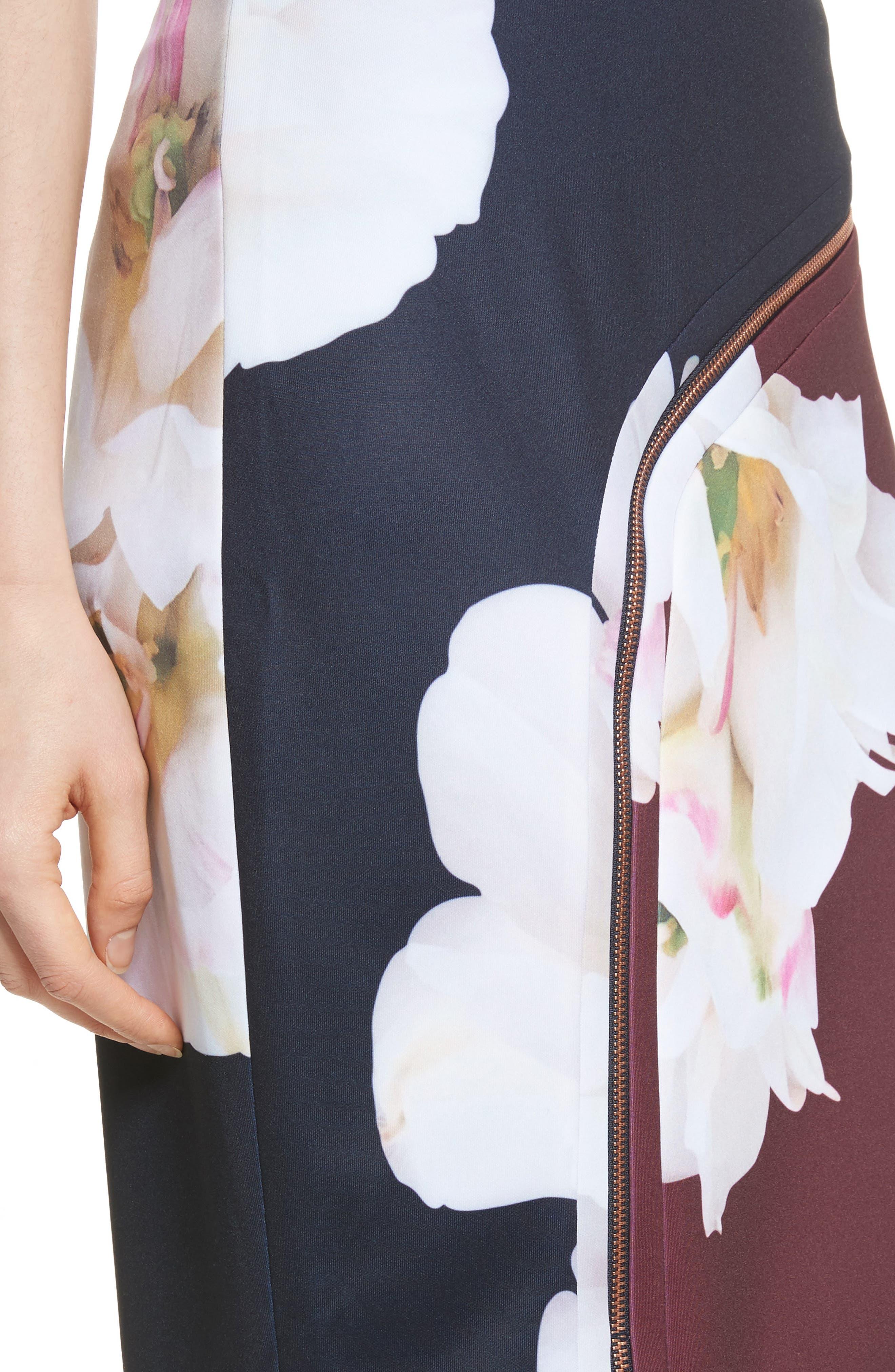 Gardenia Pencil Skirt,                             Alternate thumbnail 4, color,                             402