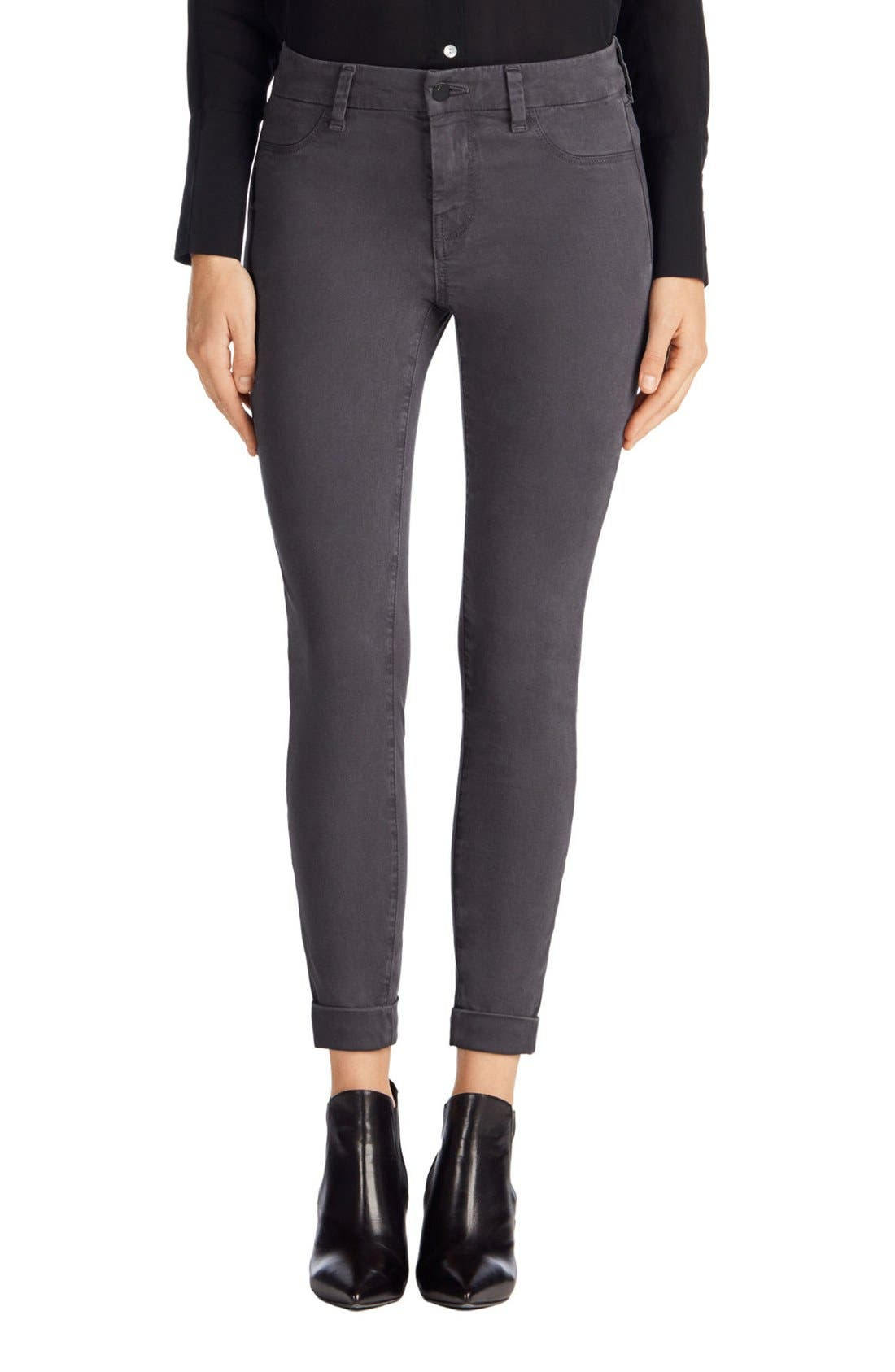 'Anja' Cuffed Crop Skinny Jeans,                             Alternate thumbnail 28, color,