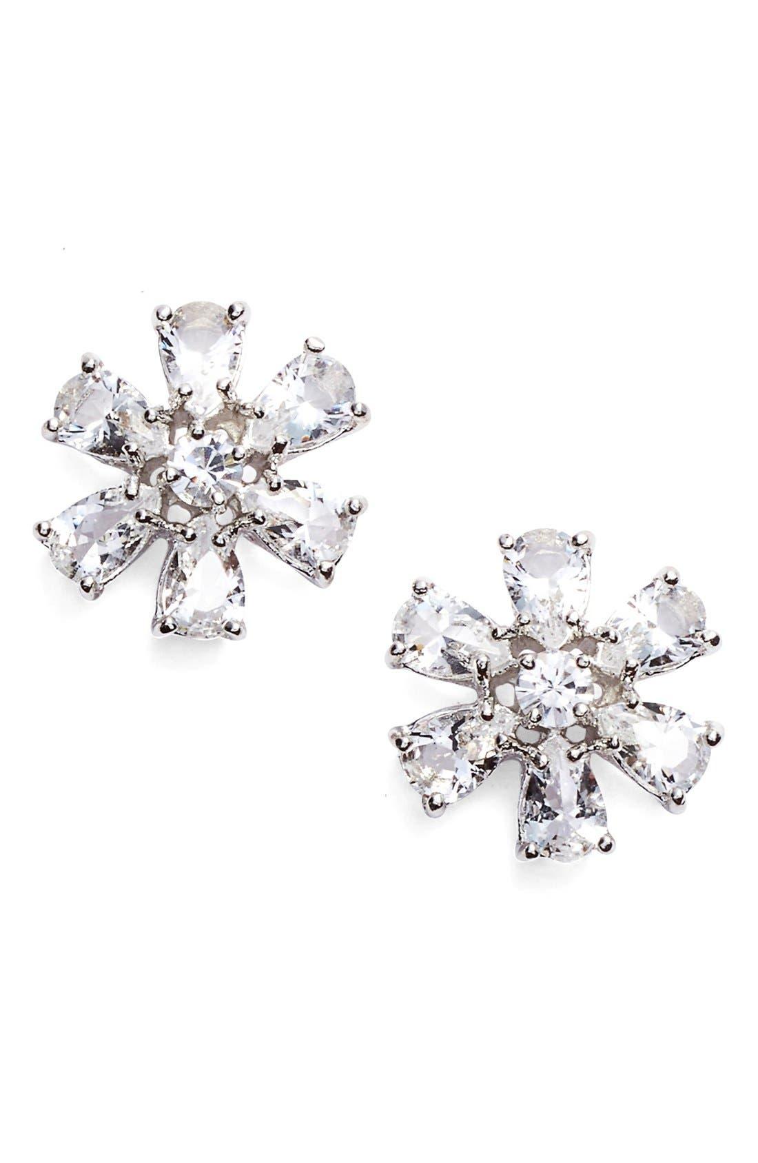 'be adorned' crystal stud earrings, Main, color, 040