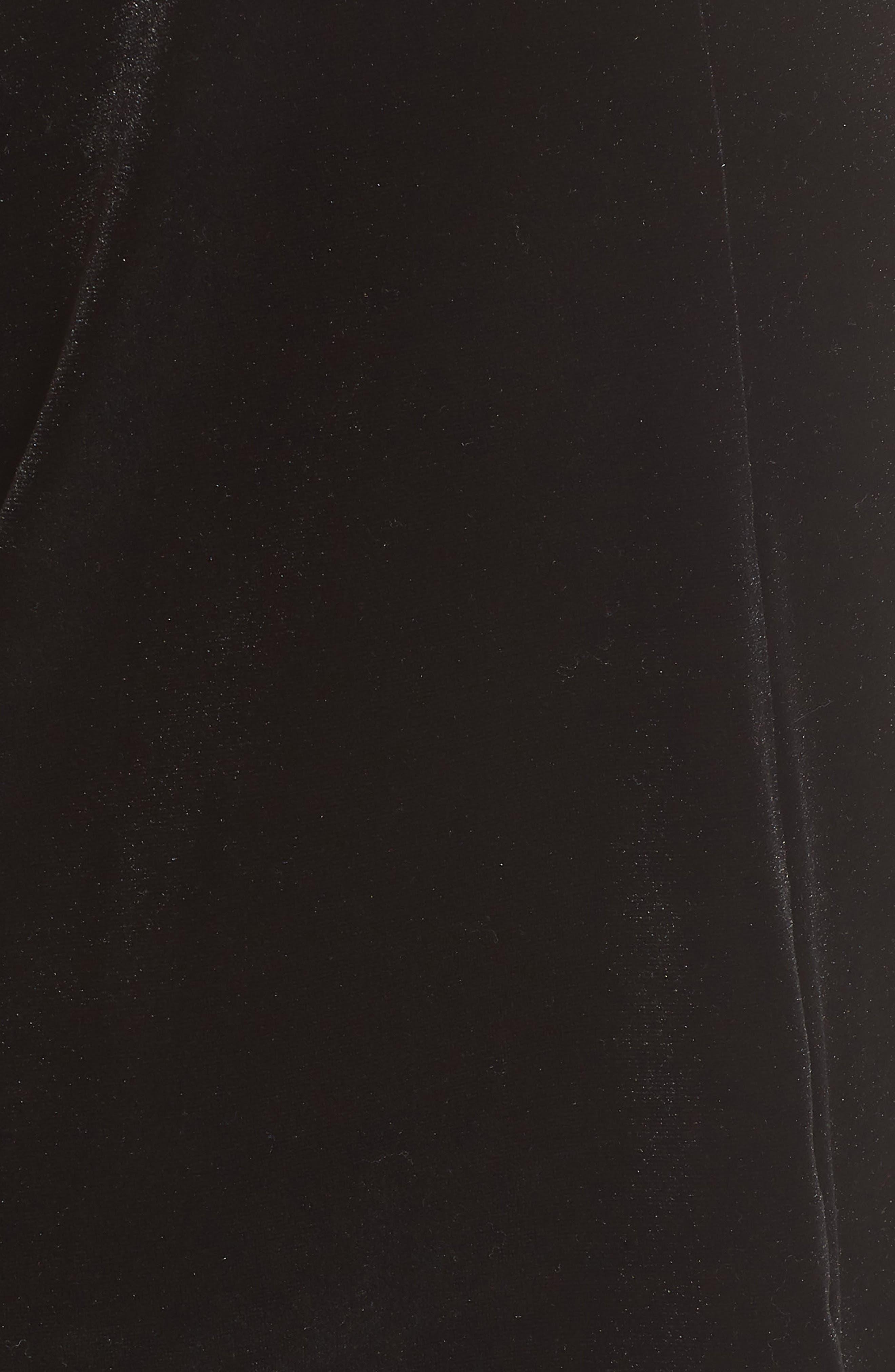 x Glam Squad Tara Bow Detail Velvet Top,                             Alternate thumbnail 6, color,                             BLACK