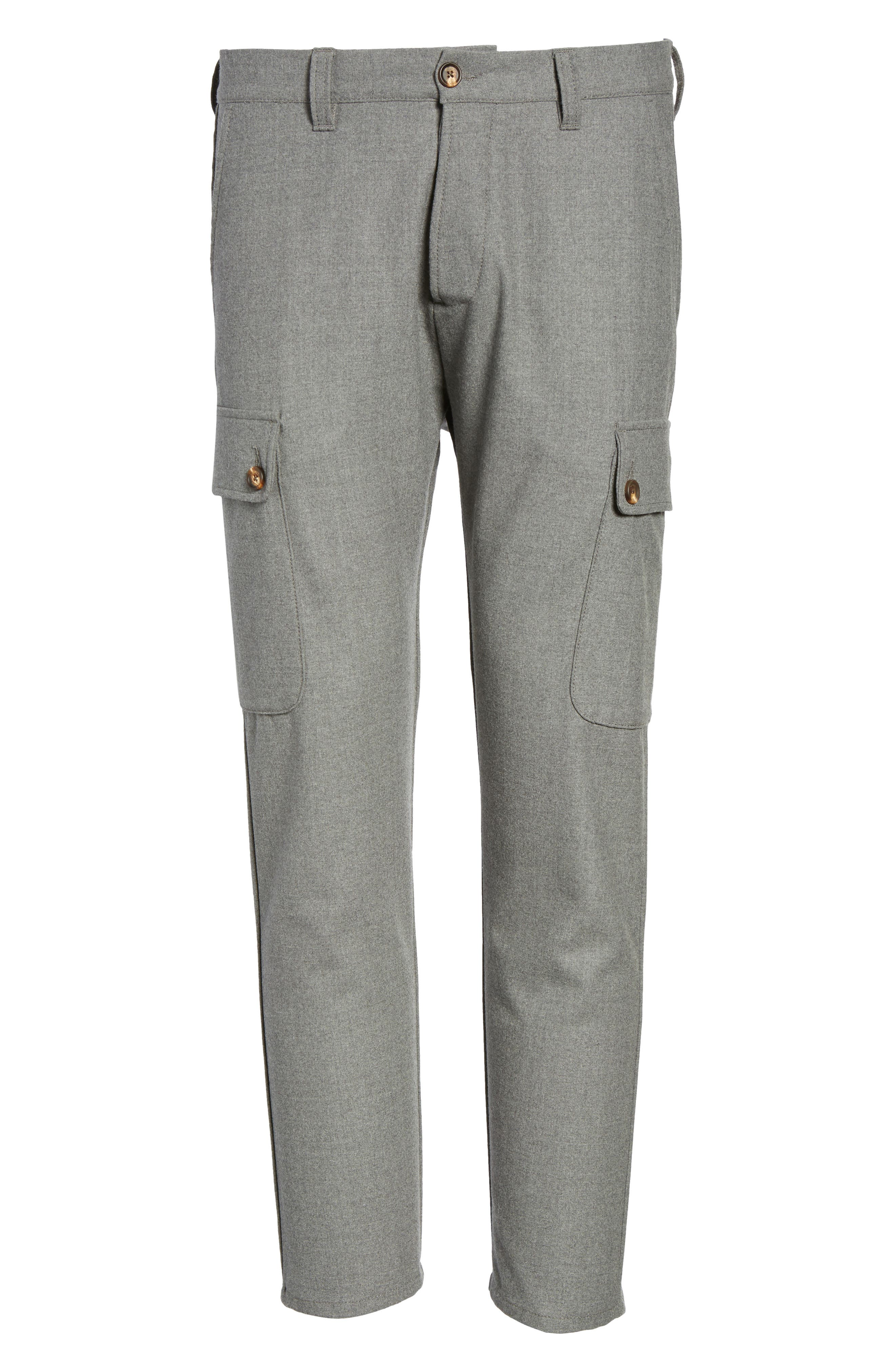 Stretch Wool Cargo Pants,                             Alternate thumbnail 6, color,                             034