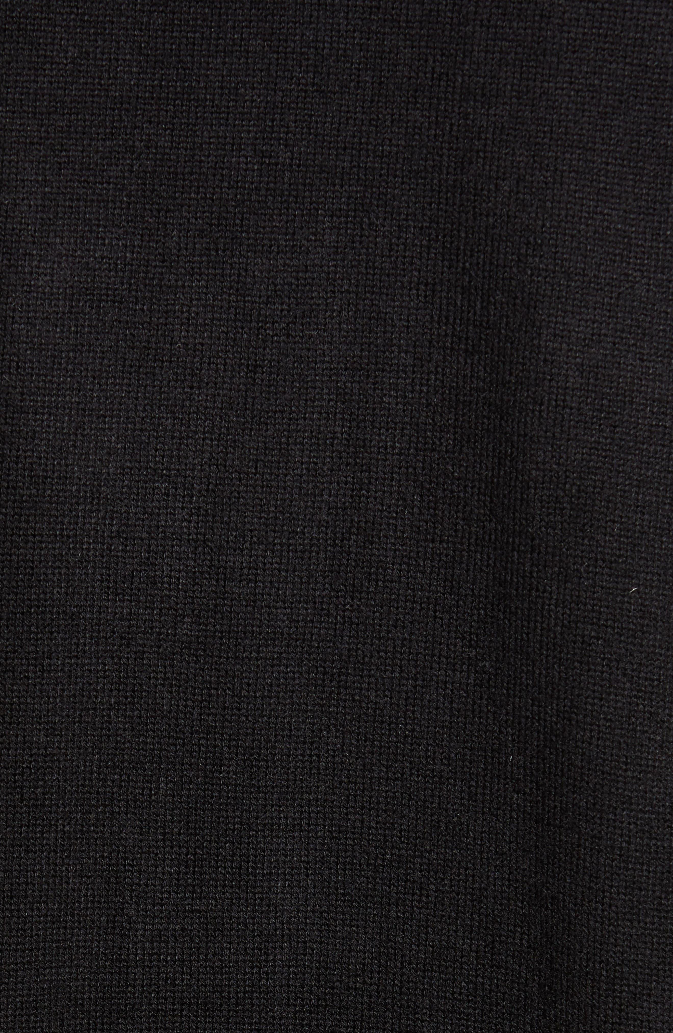 Long Cardigan,                             Alternate thumbnail 5, color,                             BLACK