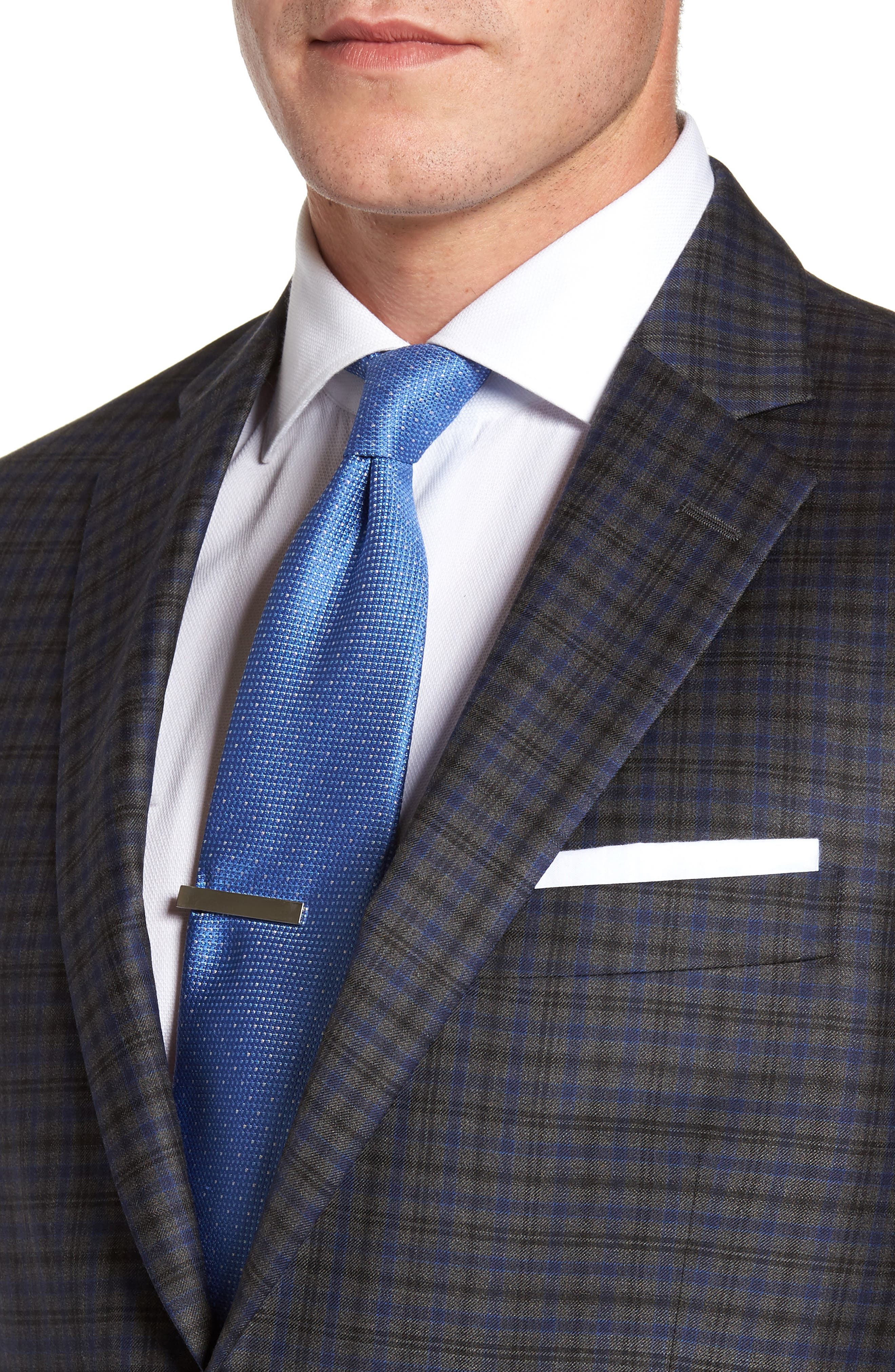 Flynn Classic Fit Plaid Wool Sport Coat,                             Alternate thumbnail 4, color,                             020