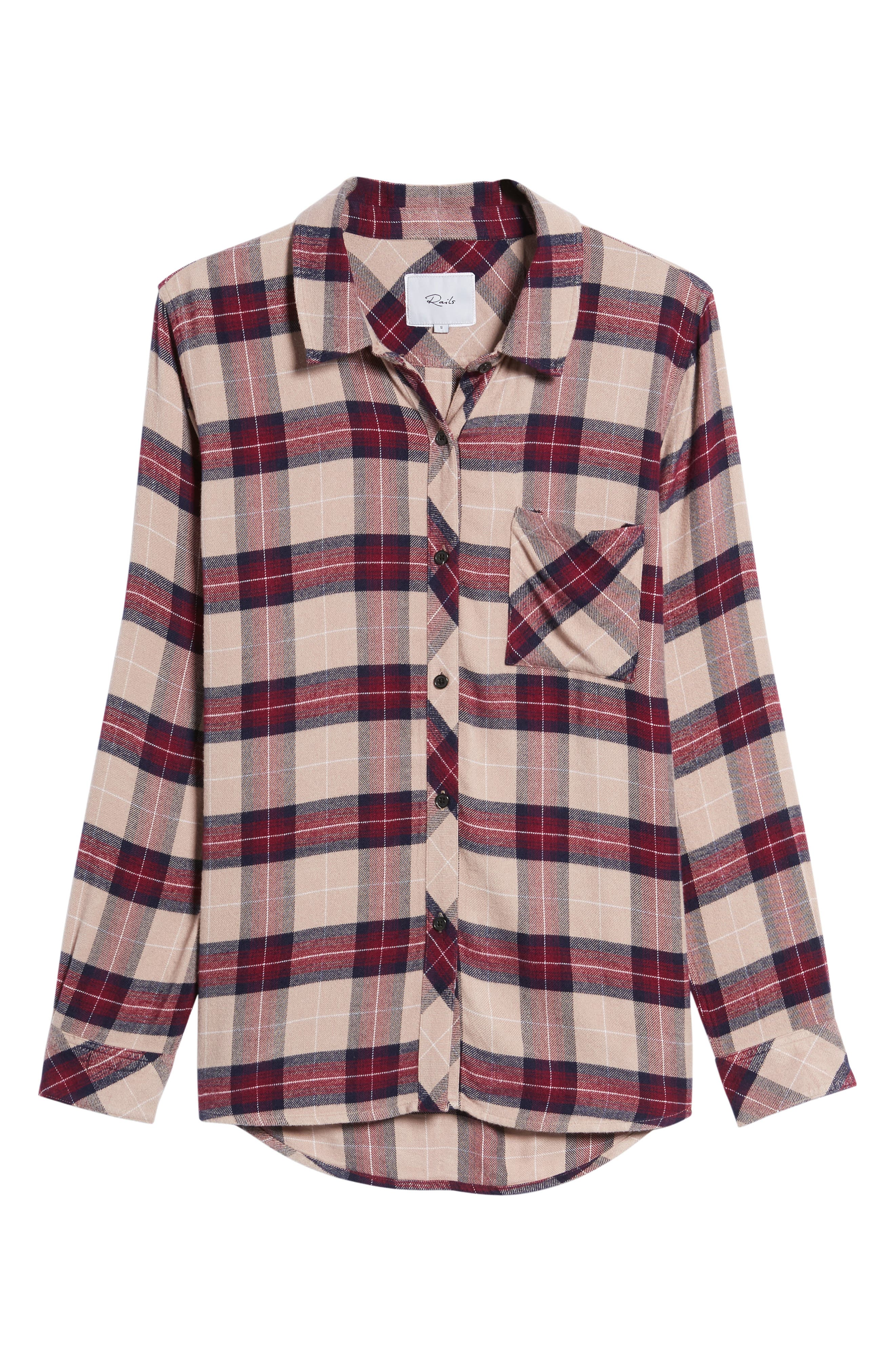 Hunter Plaid Shirt,                             Alternate thumbnail 712, color,