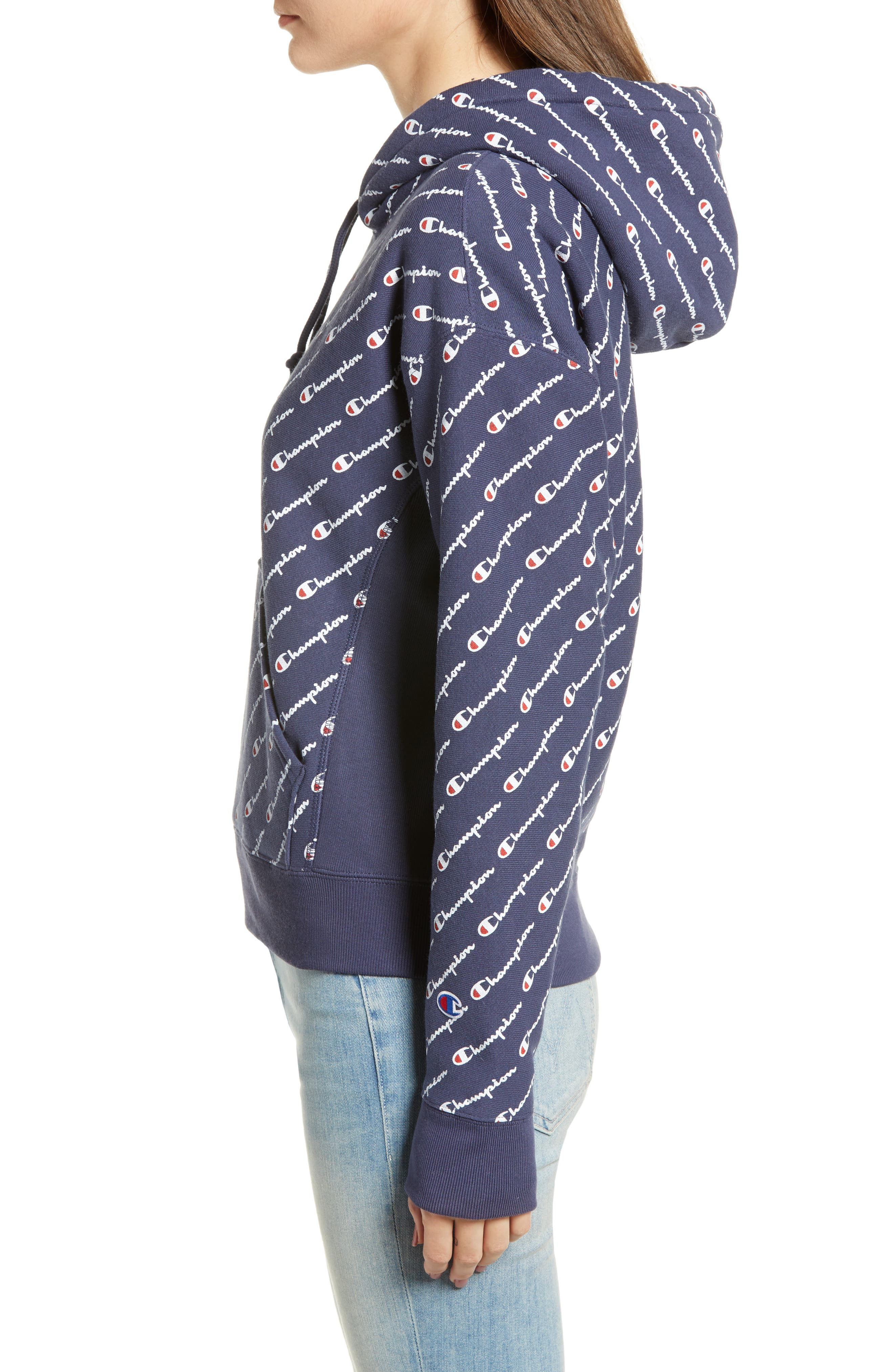 Reverse Weave<sup>®</sup> Pullover Hoodie,                             Alternate thumbnail 3, color,                             400