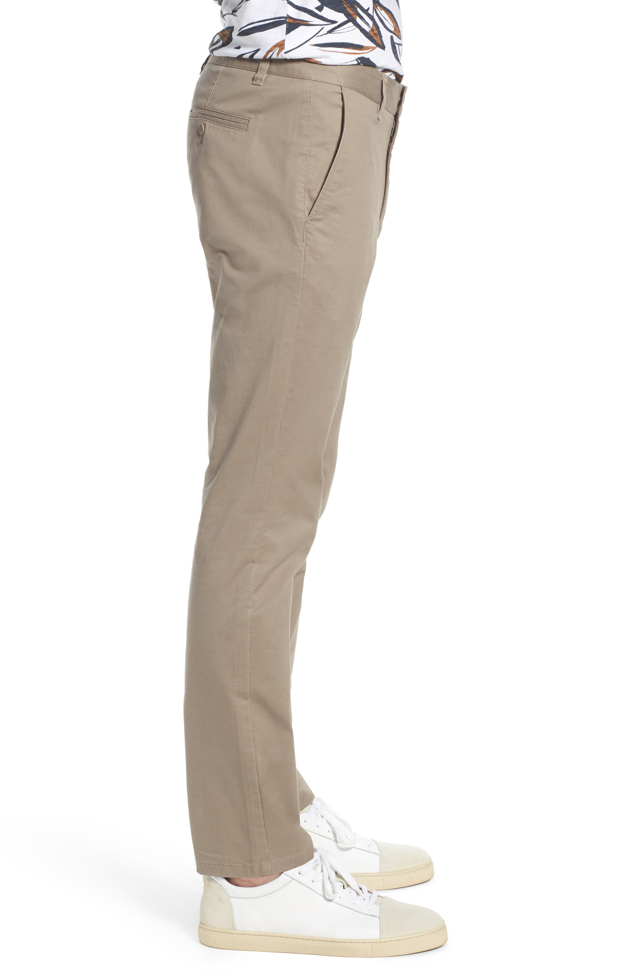 Tailored Fit Washed Stretch Cotton Chinos,                             Alternate thumbnail 74, color,