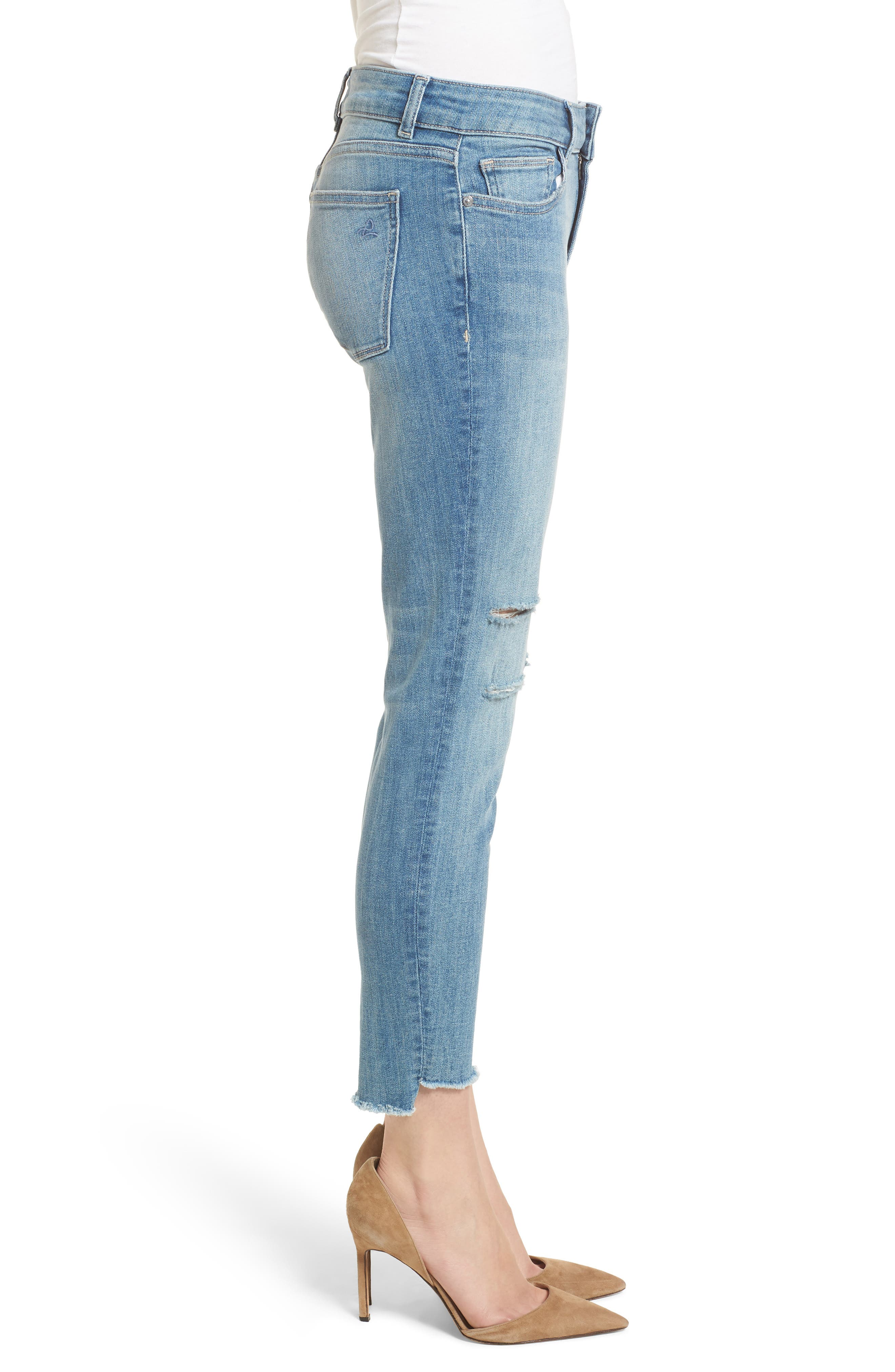 Florence Instasculpt Ripped Crop Skinny Jeans,                             Alternate thumbnail 3, color,                             429