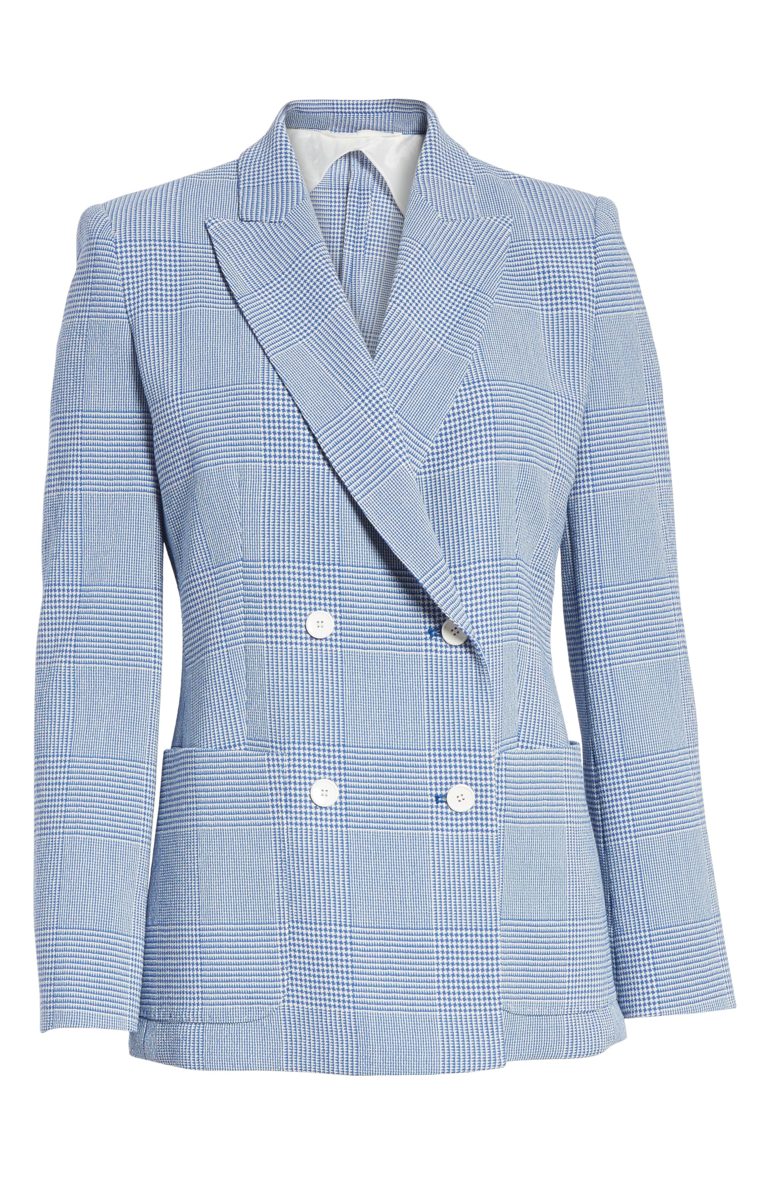 Ballata Check Wool Blazer,                             Alternate thumbnail 5, color,                             404