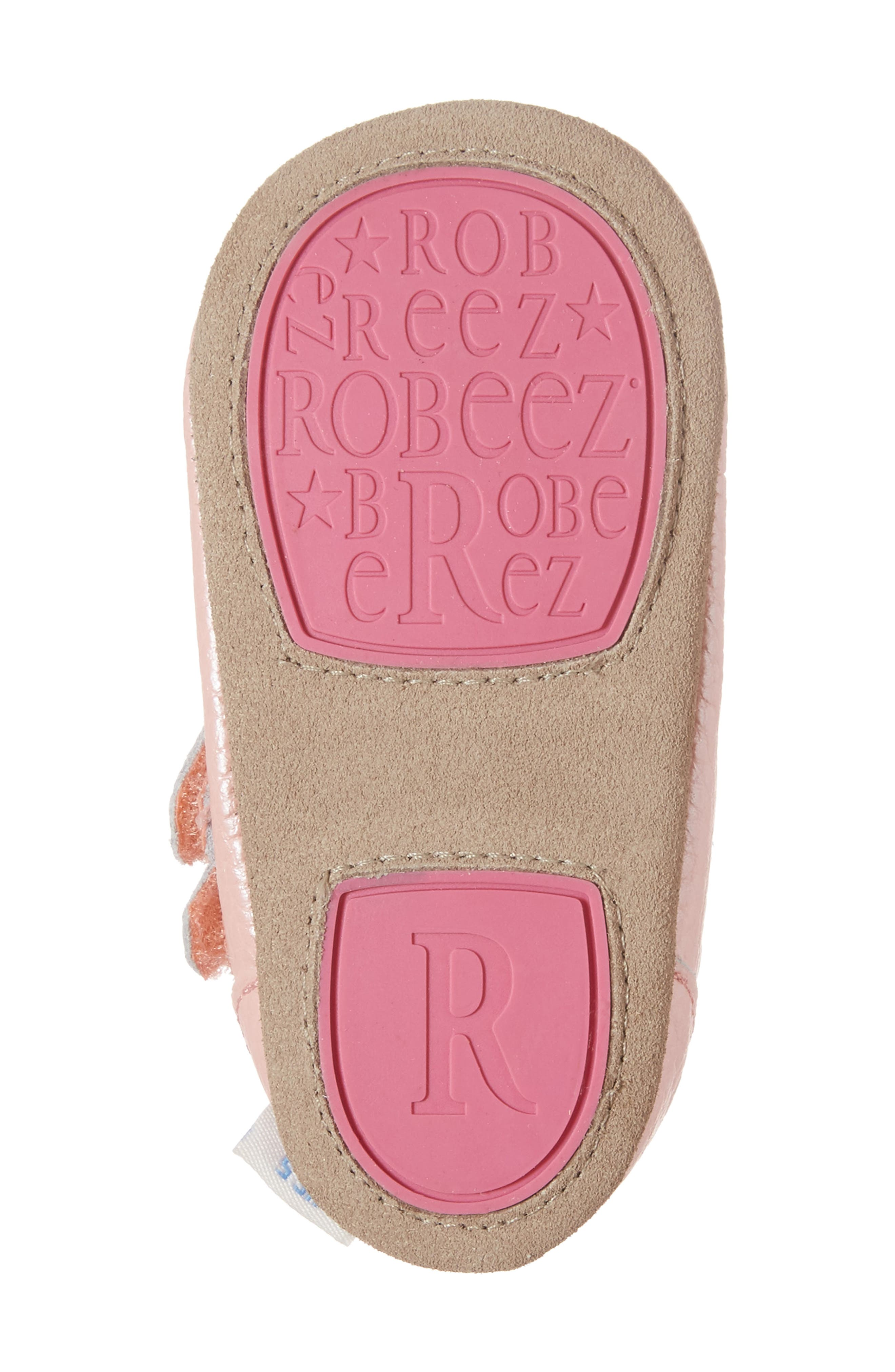 Rose Mary Jane Crib Shoe,                             Alternate thumbnail 6, color,                             ROSE