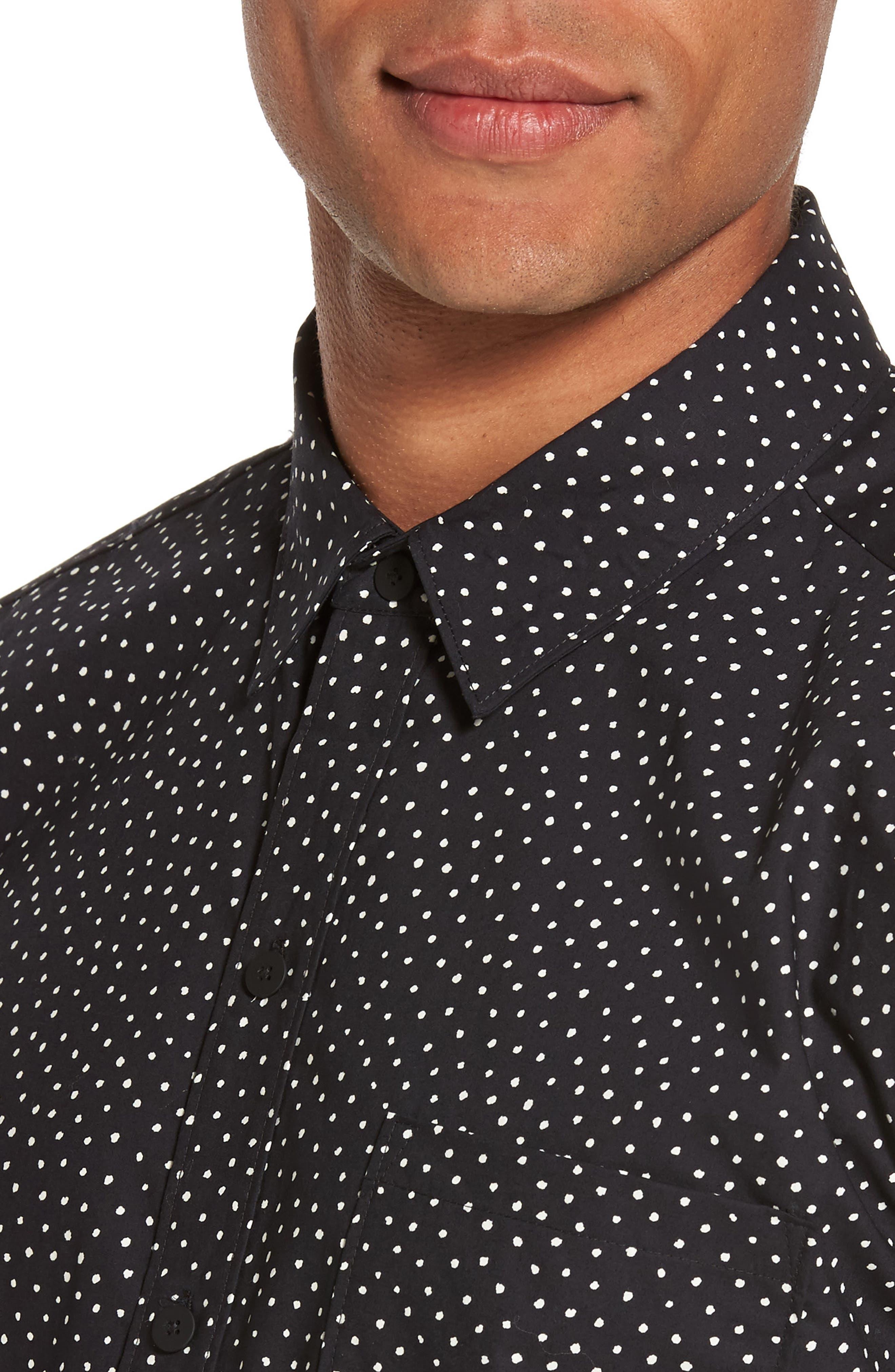 Becker Dot Print Woven Shirt,                             Alternate thumbnail 7, color,