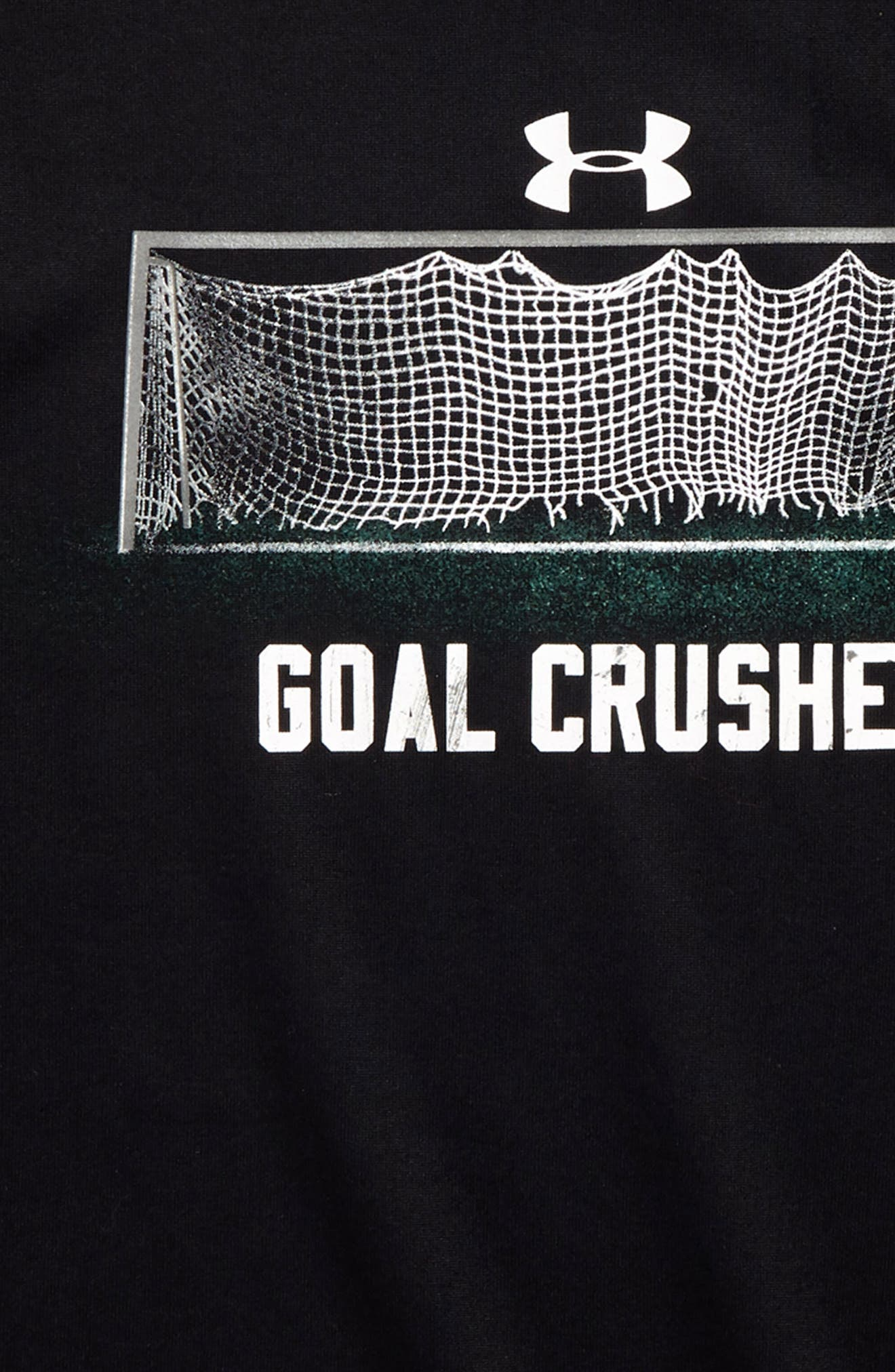 Goal Crusher Glow in the Dark HeatGear<sup>®</sup> Shirt,                             Alternate thumbnail 2, color,                             001