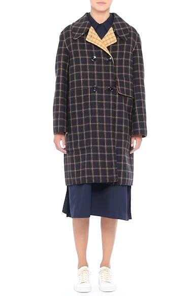 Plaid Wool Blend Car Coat, video thumbnail