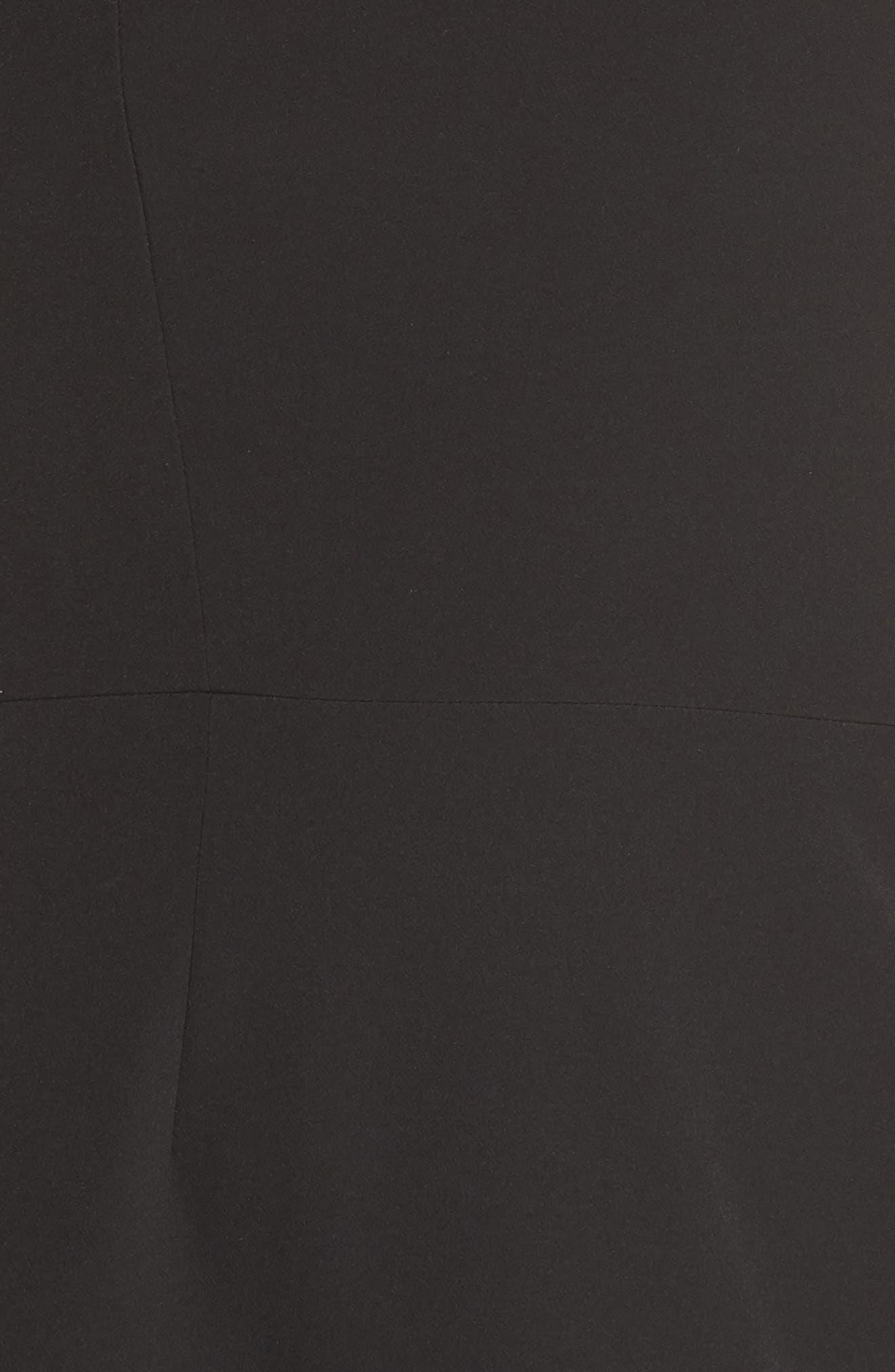 CLOVER AND SLOANE,                             One-Shoulder Asymmetric Dress,                             Alternate thumbnail 5, color,                             001