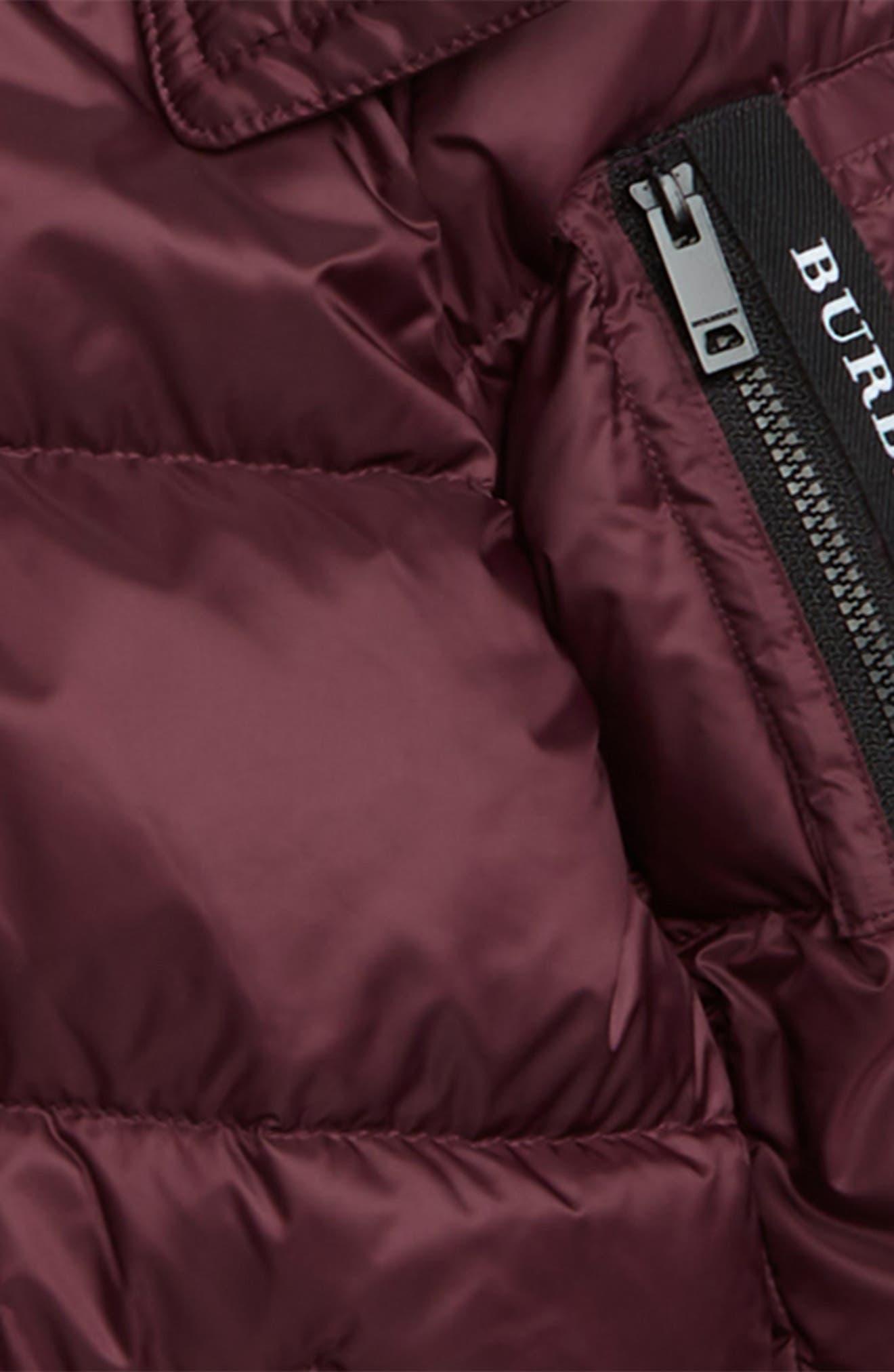 Waterproof Down Puffer Coat,                             Alternate thumbnail 2, color,                             BEETROOT