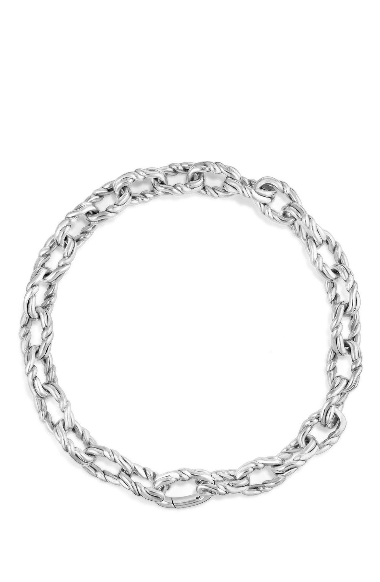 Continuance Chain Bracelet,                             Alternate thumbnail 3, color,                             SILVER
