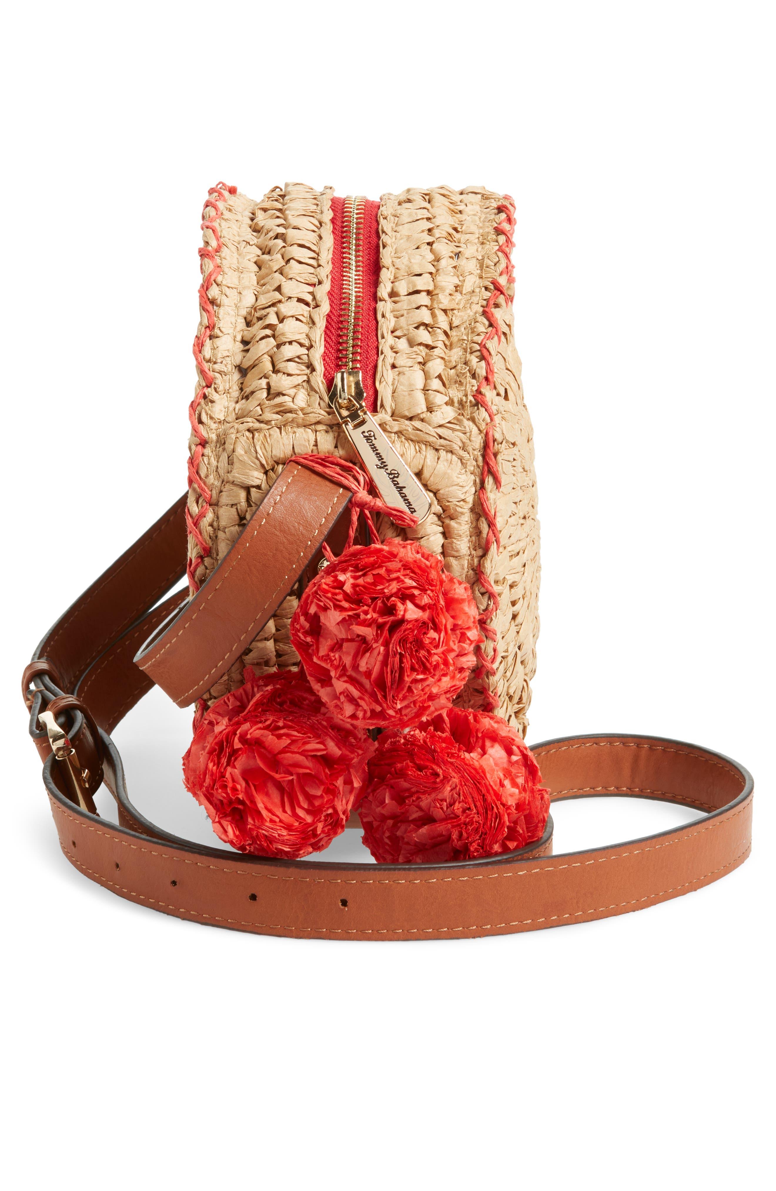 Pirro Woven Straw Crossbody Bag,                             Alternate thumbnail 5, color,                             237