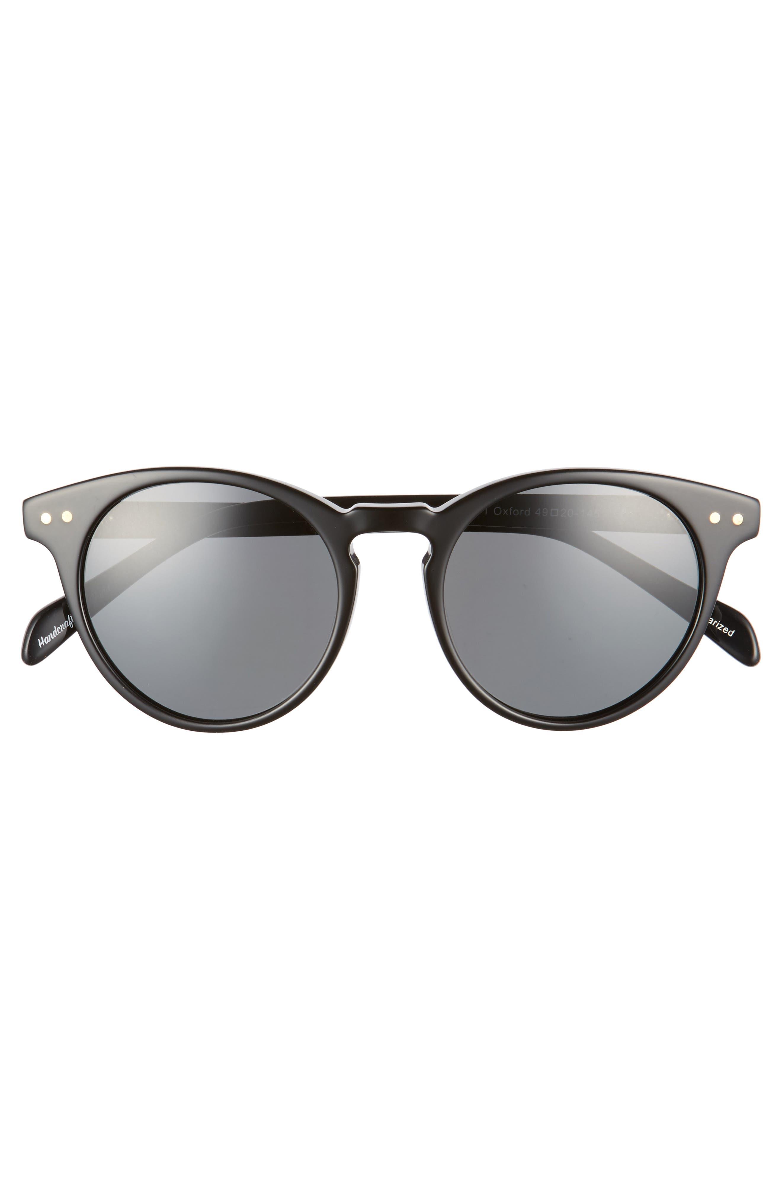 Oxford 49mm Polarized Sunglasses,                             Alternate thumbnail 3, color,                             001