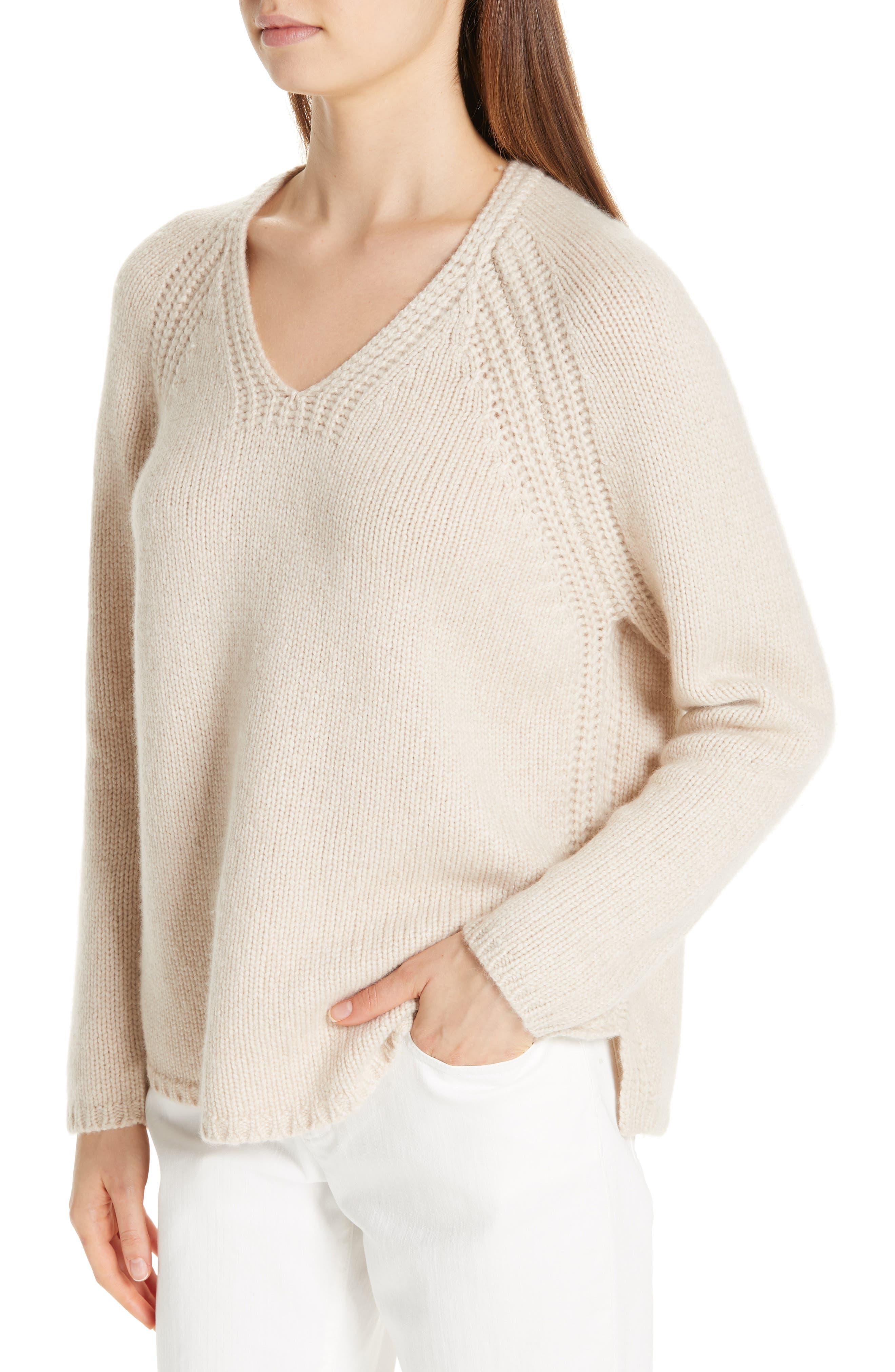 V-Neck Cashmere Sweater,                             Alternate thumbnail 4, color,                             264