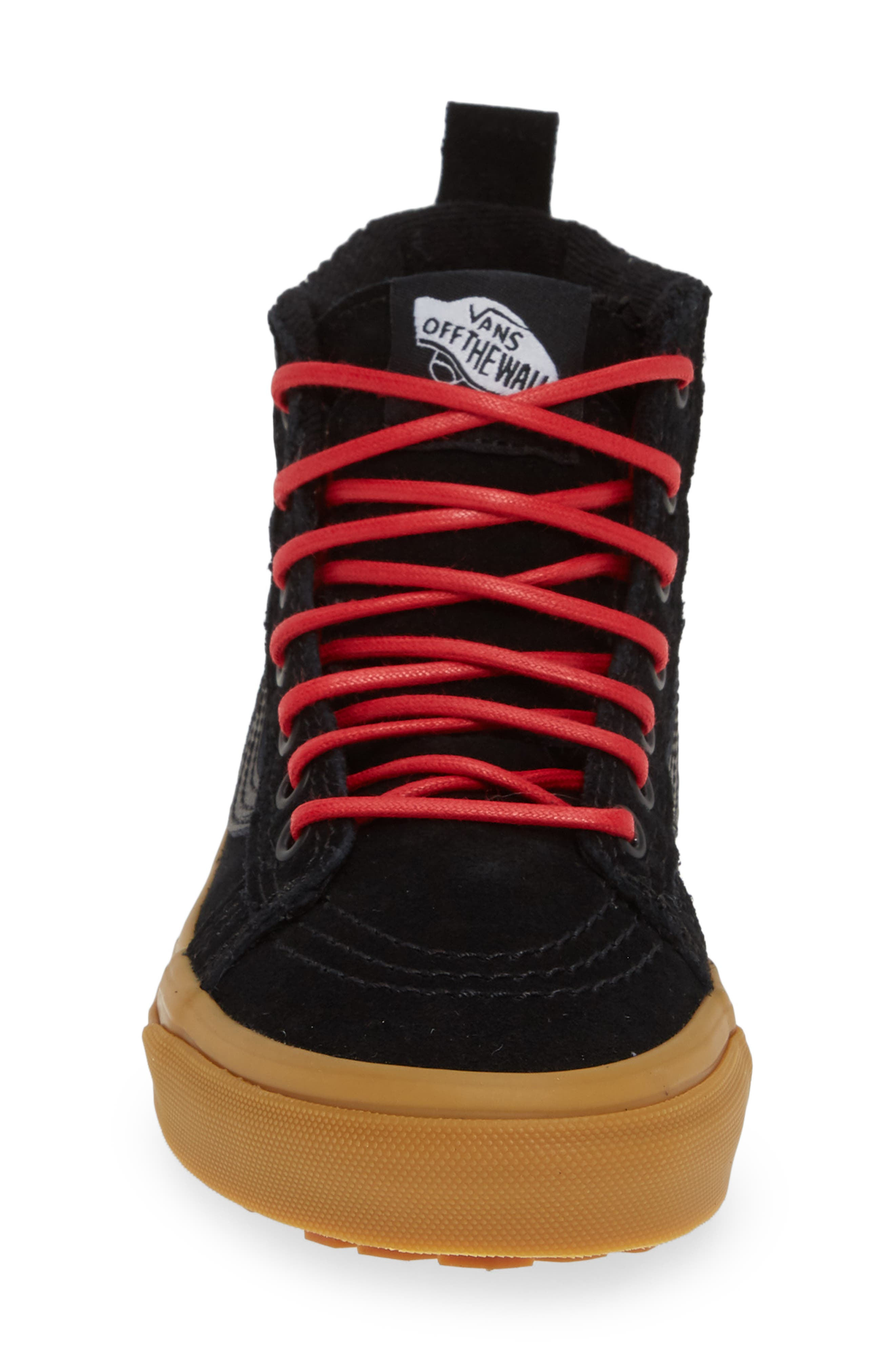 SK8-Hi Sneaker,                             Alternate thumbnail 4, color,                             CHECKERBOARD/ BLACK