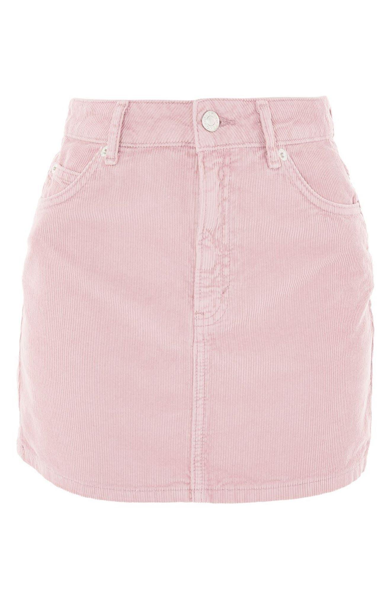 Corduroy Miniskirt,                             Alternate thumbnail 3, color,                             650