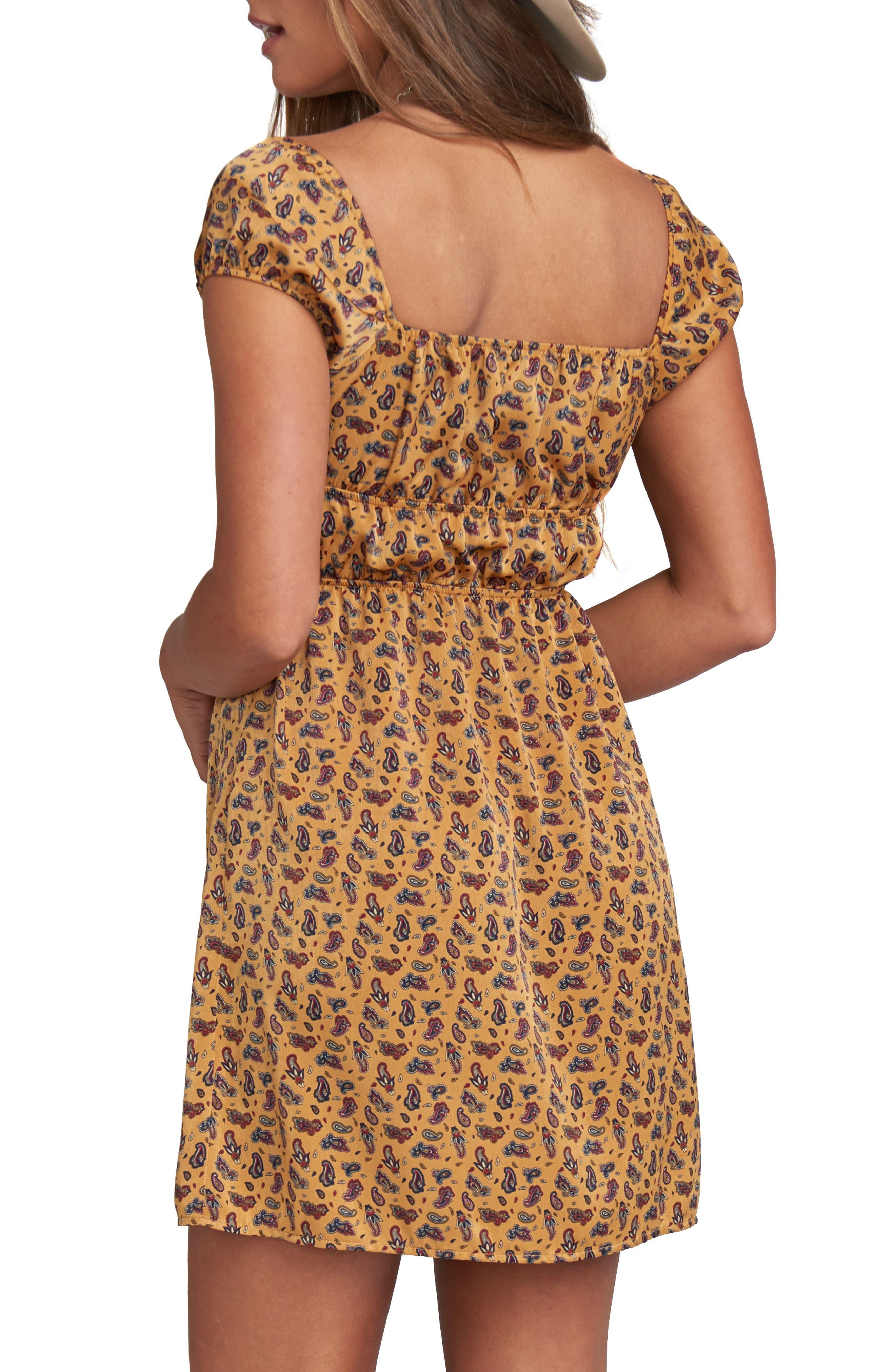Wild West Paisley Print Dress,                             Alternate thumbnail 2, color,                             WILD WEST PAISLEY SHEEN