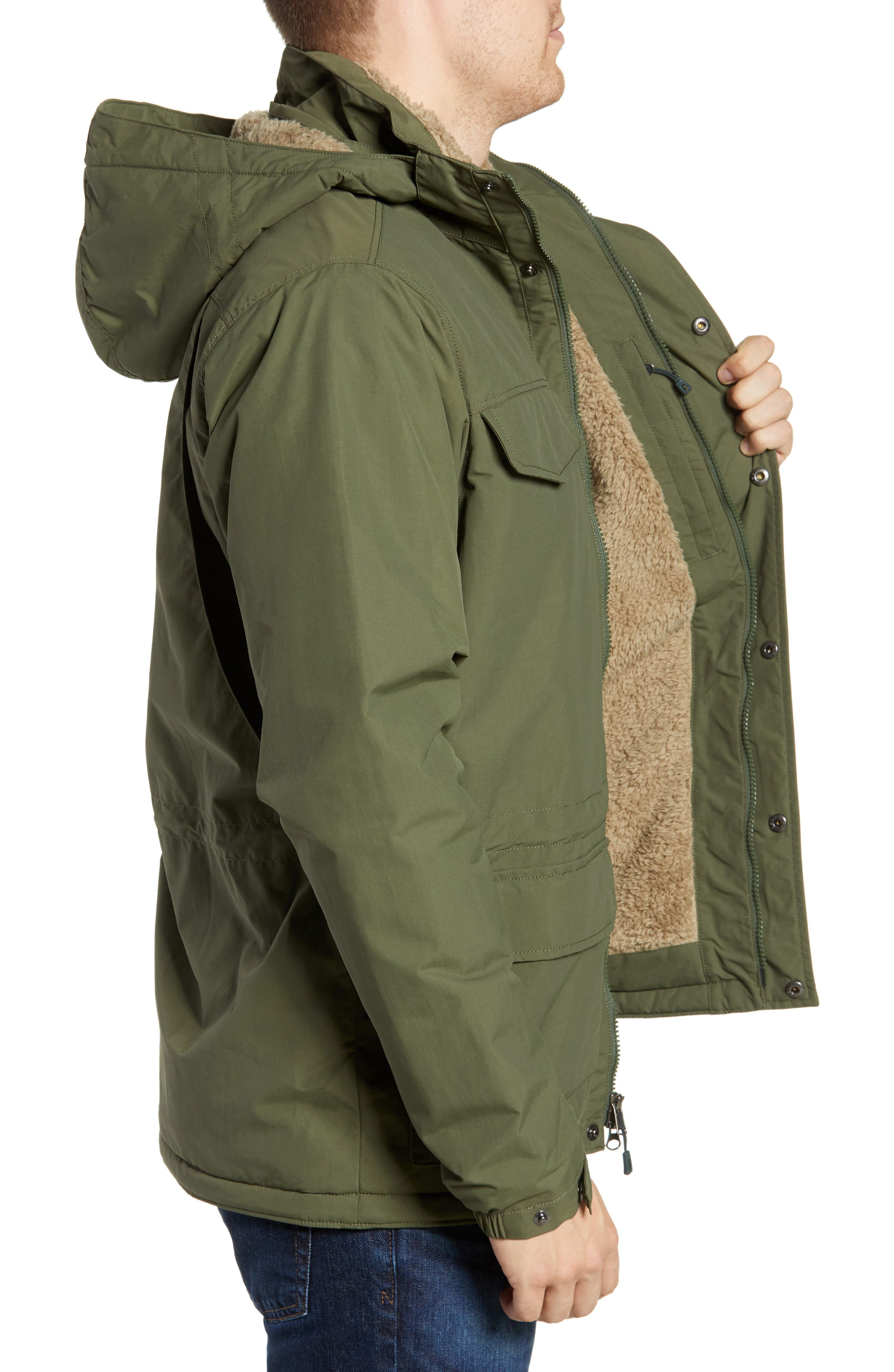 Isthmus Wind Resistant Water Repellent Hooded Parka,                             Alternate thumbnail 3, color,                             302