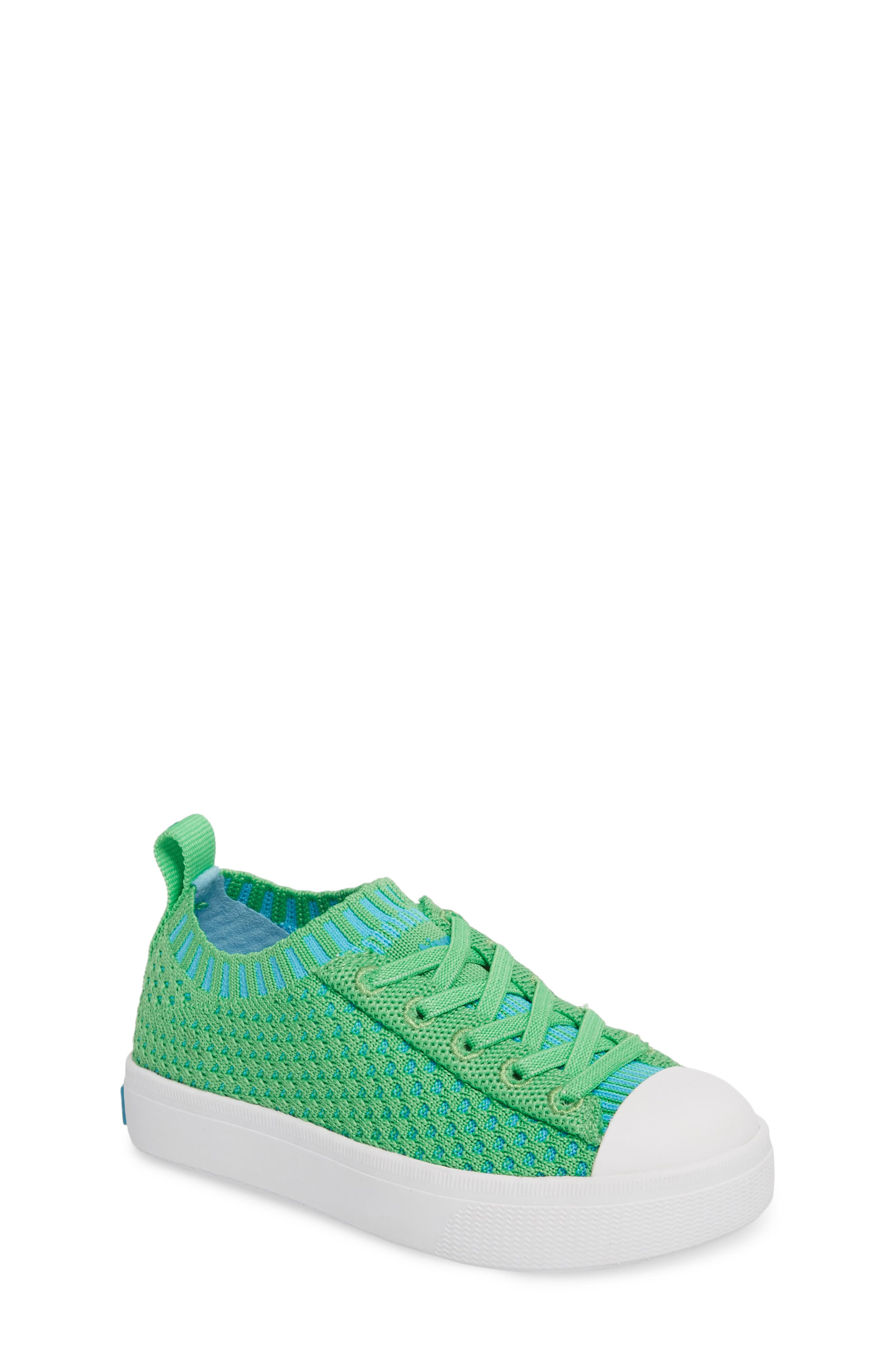 Native Jefferson 2.0 LiteKnit Sneaker,                         Main,                         color, GRASS GREEN/ SHELL WHITE