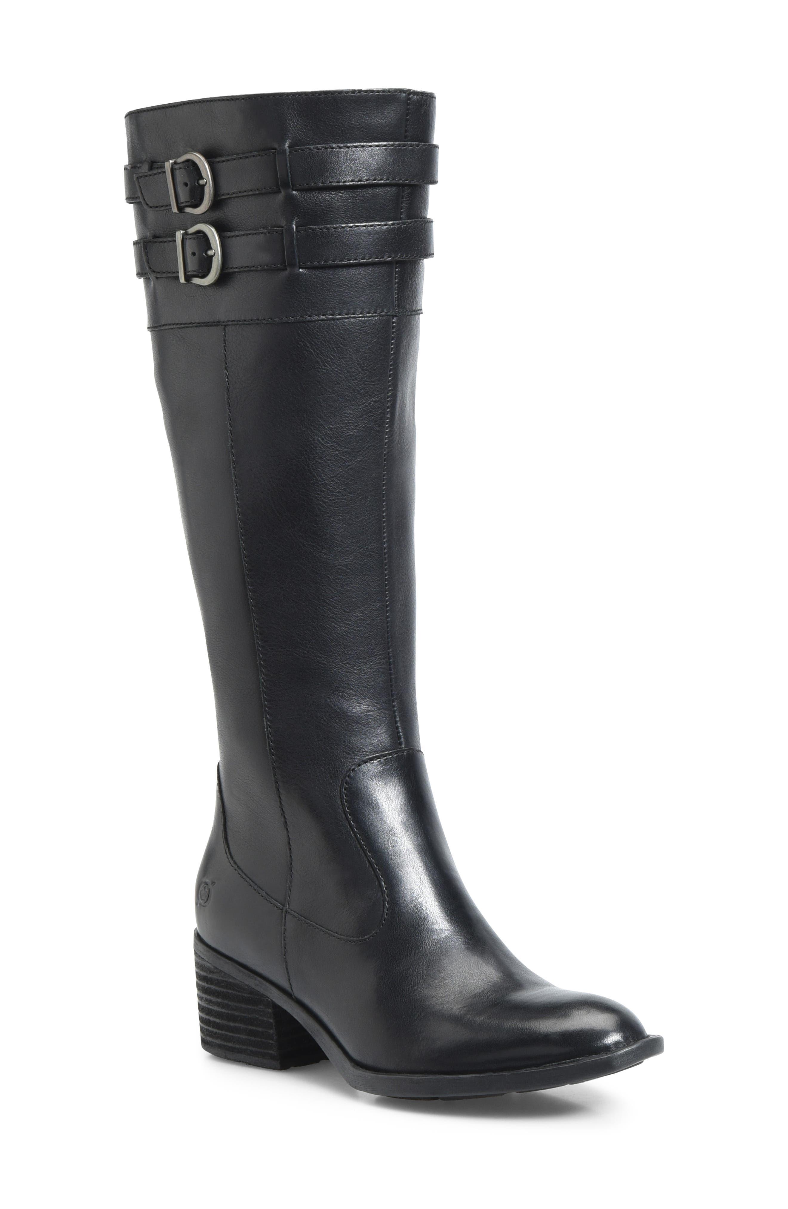 B?rn Tay Block Heel Knee High Boot