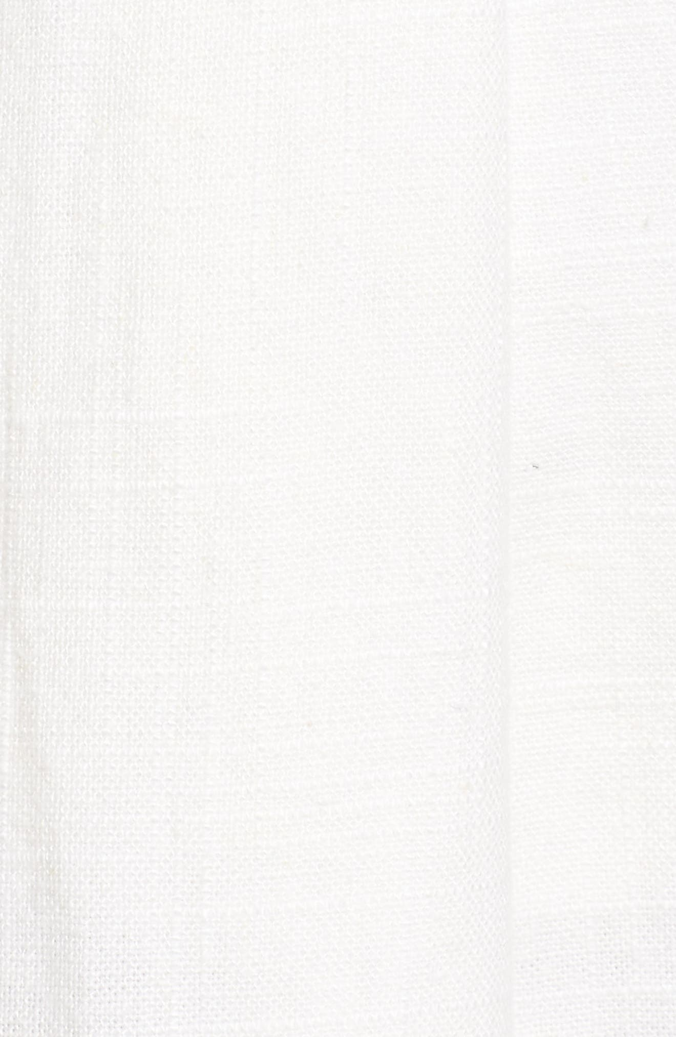 Raw Hem Paper Bag Waist Shorts,                             Alternate thumbnail 5, color,                             100